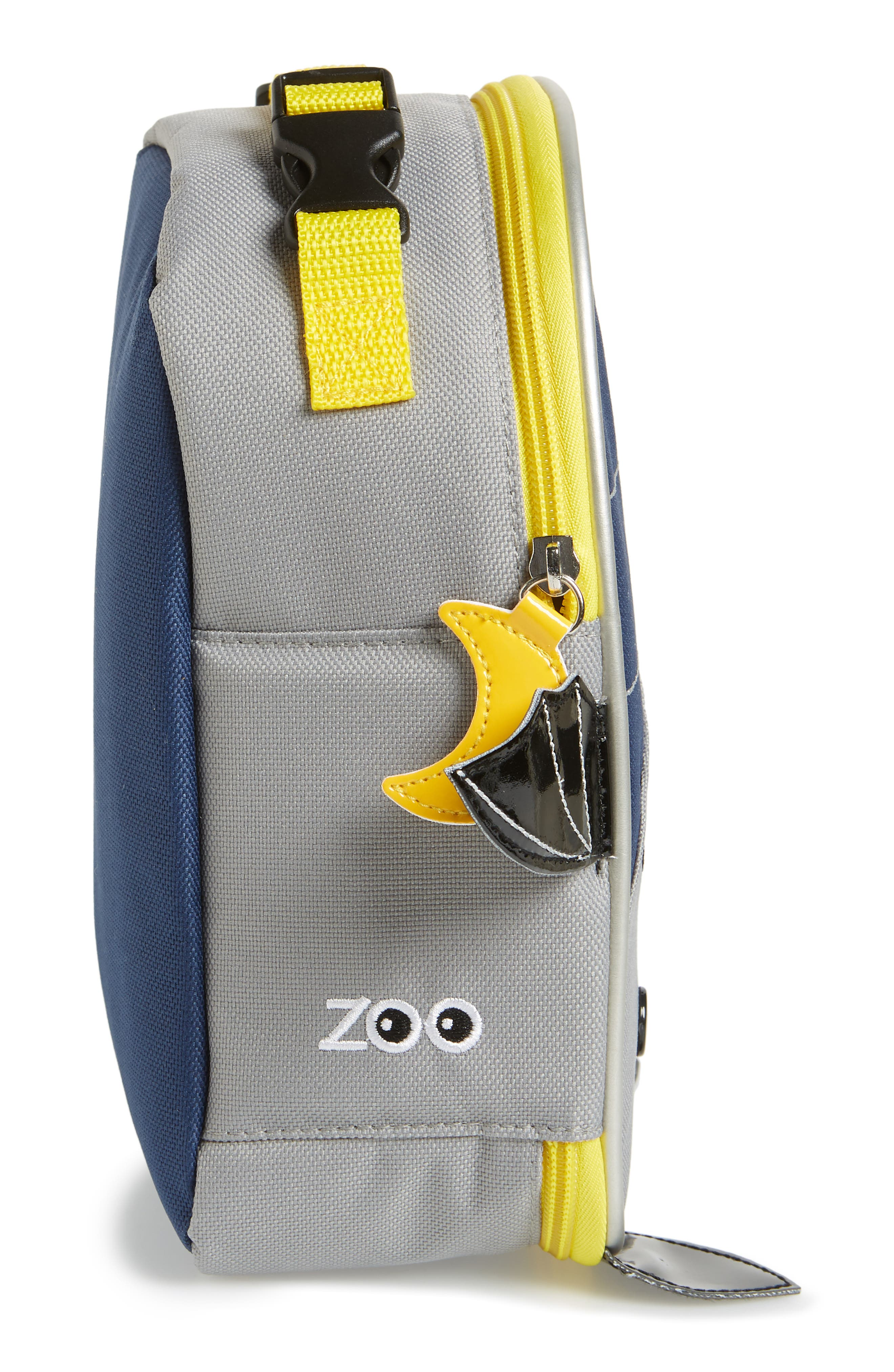 Zoo Lunch Bag,                             Alternate thumbnail 3, color,                             Navy Blue