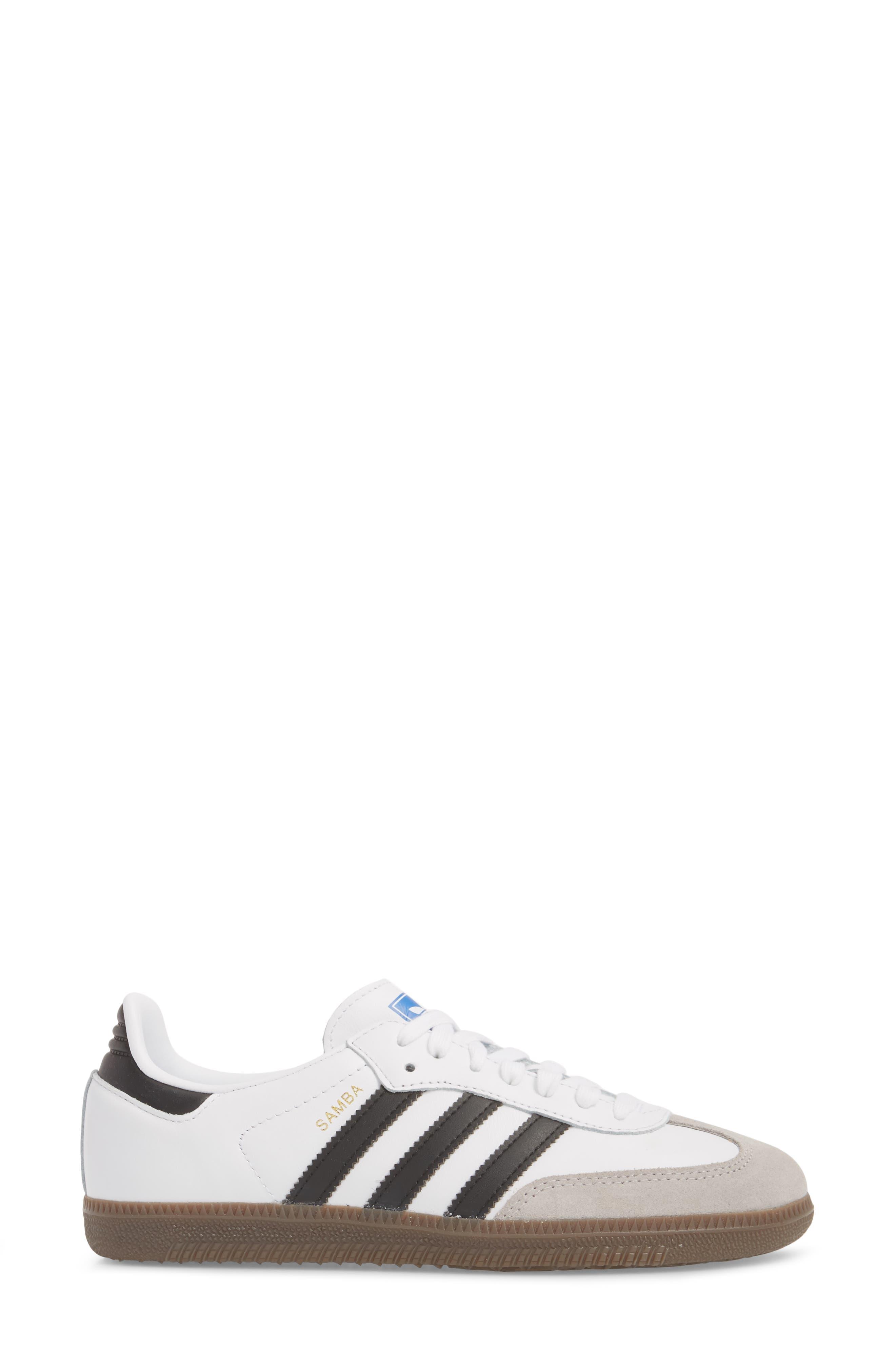 'Samba' Sneaker,                             Alternate thumbnail 3, color,                             White/ Black/ Clear Granite