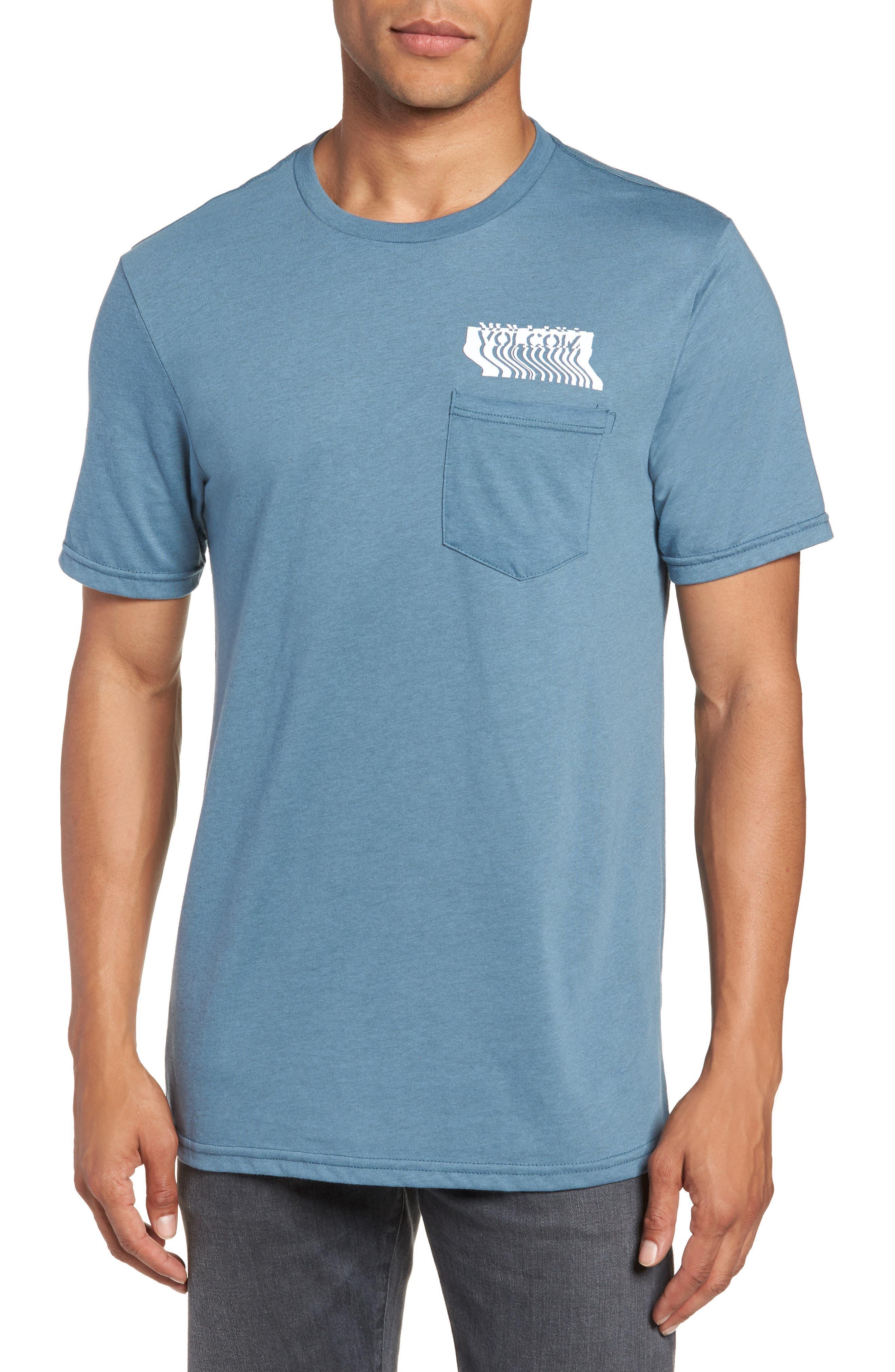 Bard Pocket Cotton Blend T-Shirt,                             Main thumbnail 1, color,                             Indigo