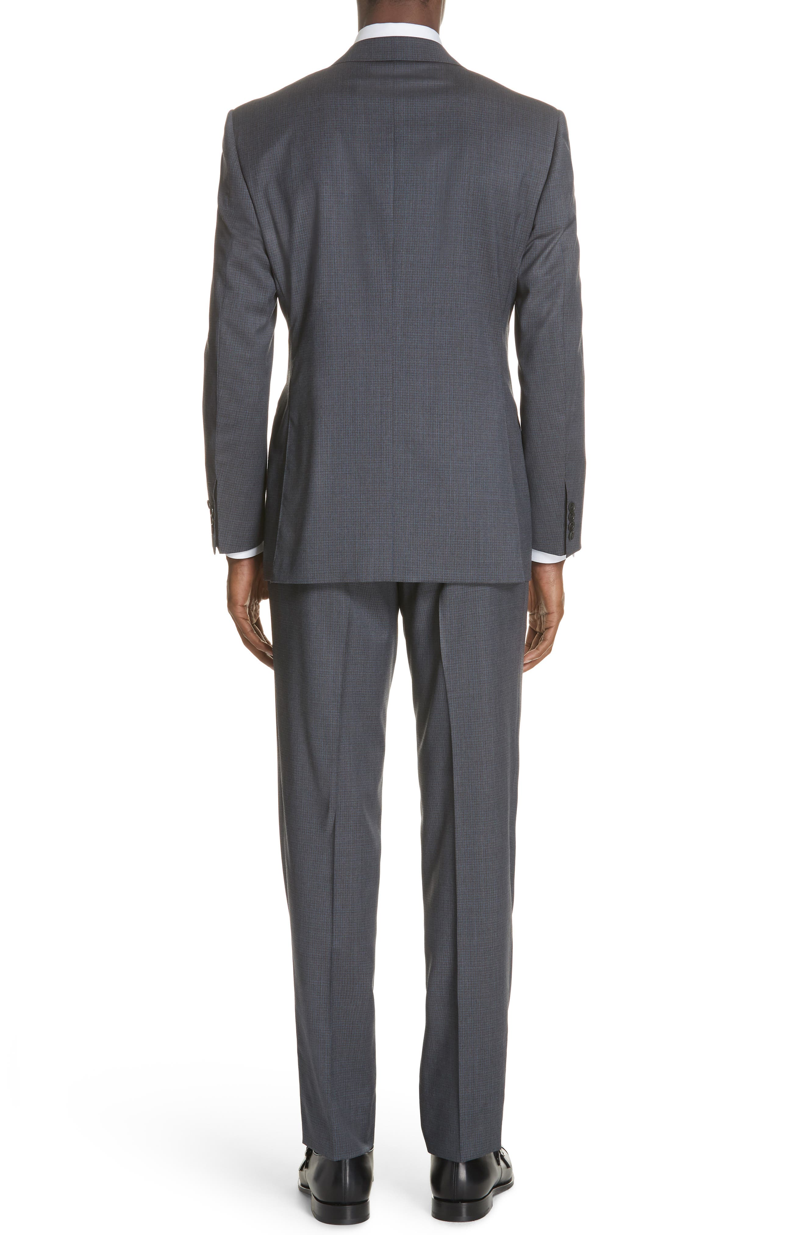 Classic Fit Check Wool Suit,                             Alternate thumbnail 2, color,                             Grey