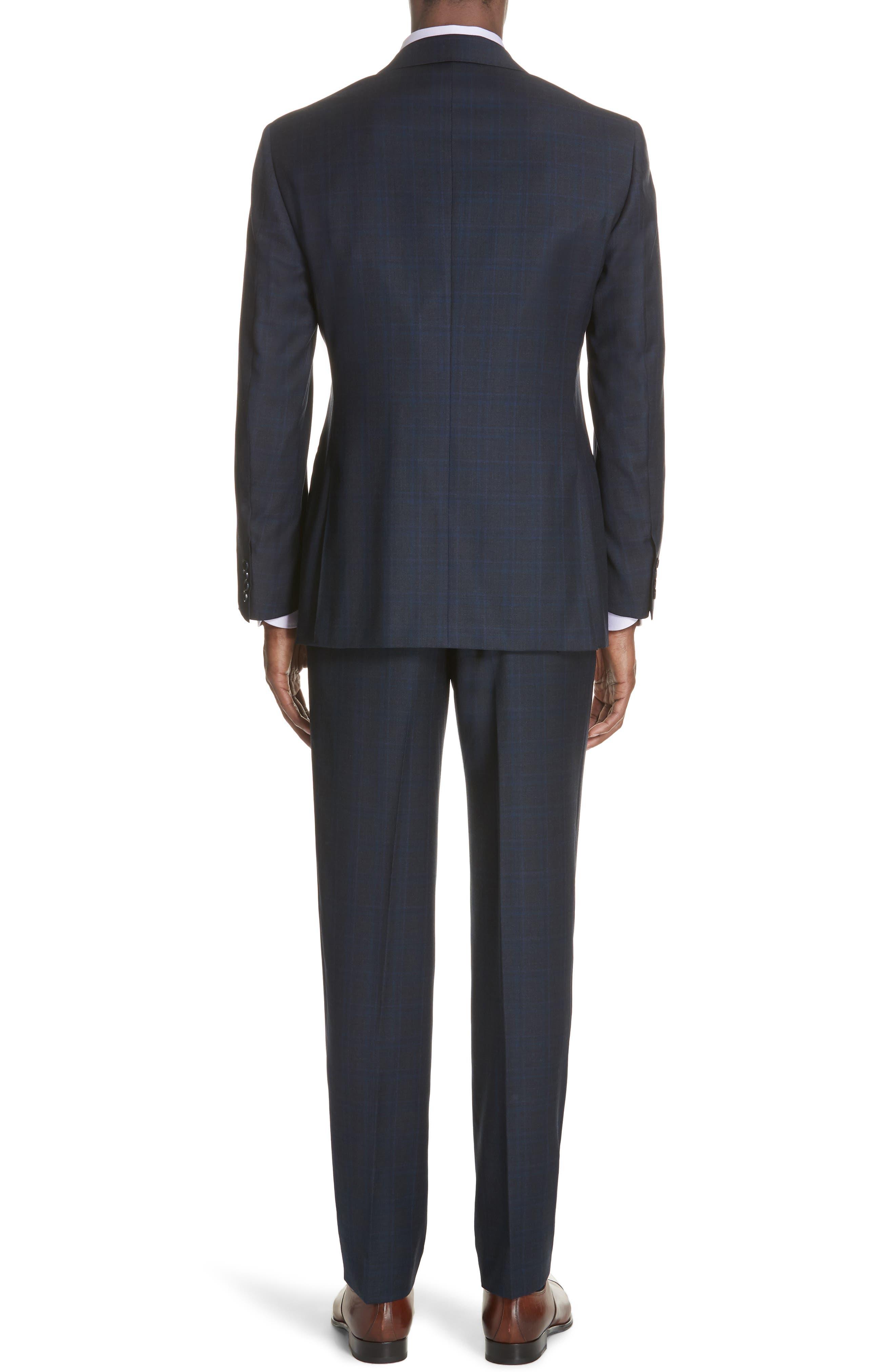 Classic Fit Plaid Wool Suit,                             Alternate thumbnail 2, color,                             Charcoal