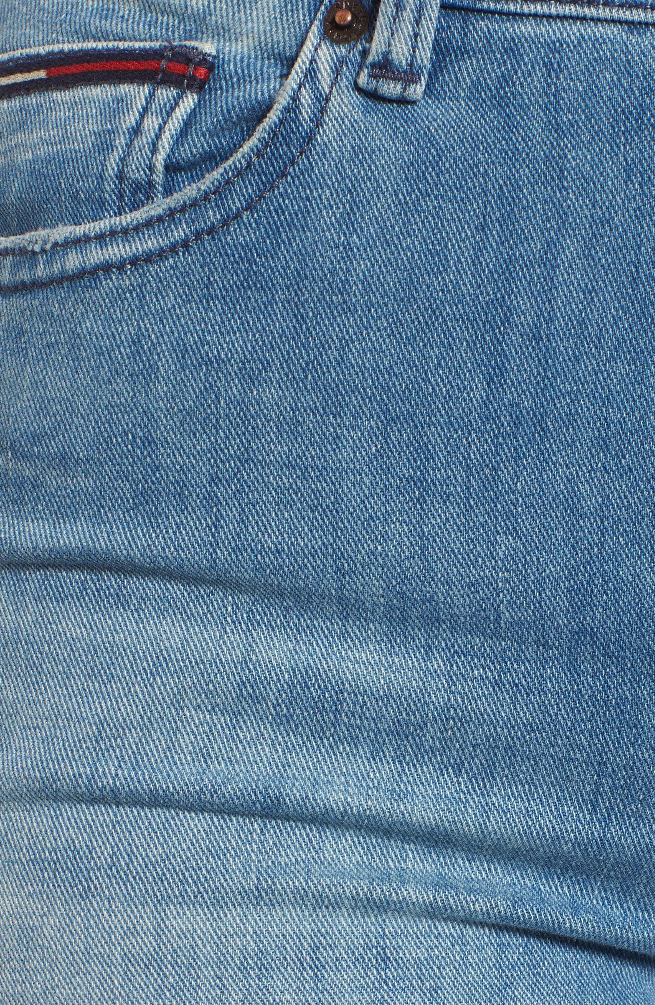 Izzy High Waist Slim Leg Jeans,                             Alternate thumbnail 6, color,                             Denver Light Blue Comfort