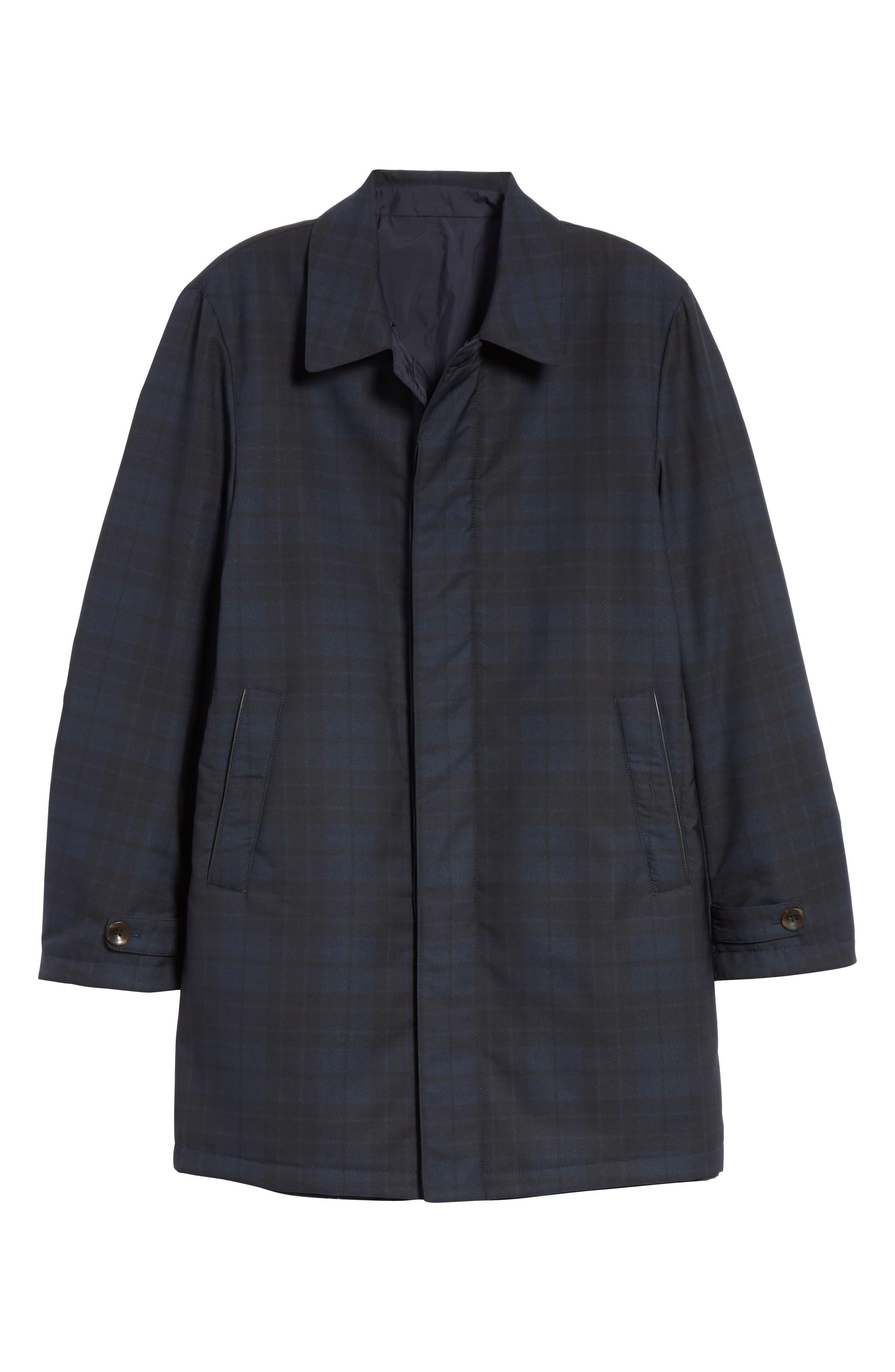 Regular Fit Reversible Raincoat,                             Alternate thumbnail 8, color,                             Blue