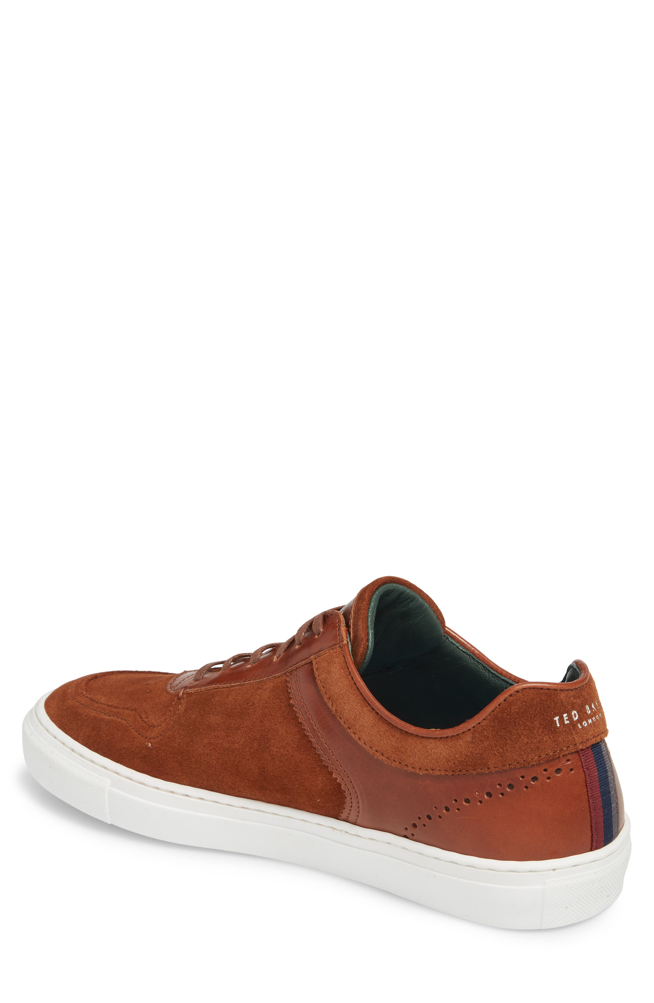 Burall Sneaker,                             Alternate thumbnail 2, color,                             Dark Tan Suede
