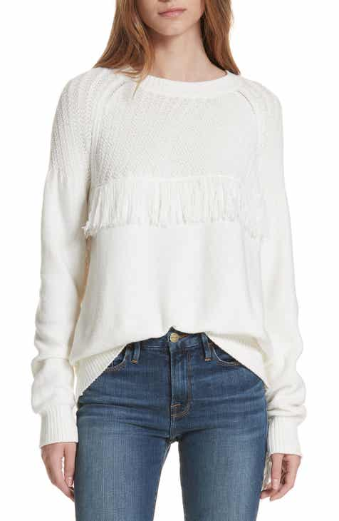 FRAME Fringe Crewneck Sweater by FRAME DENIM