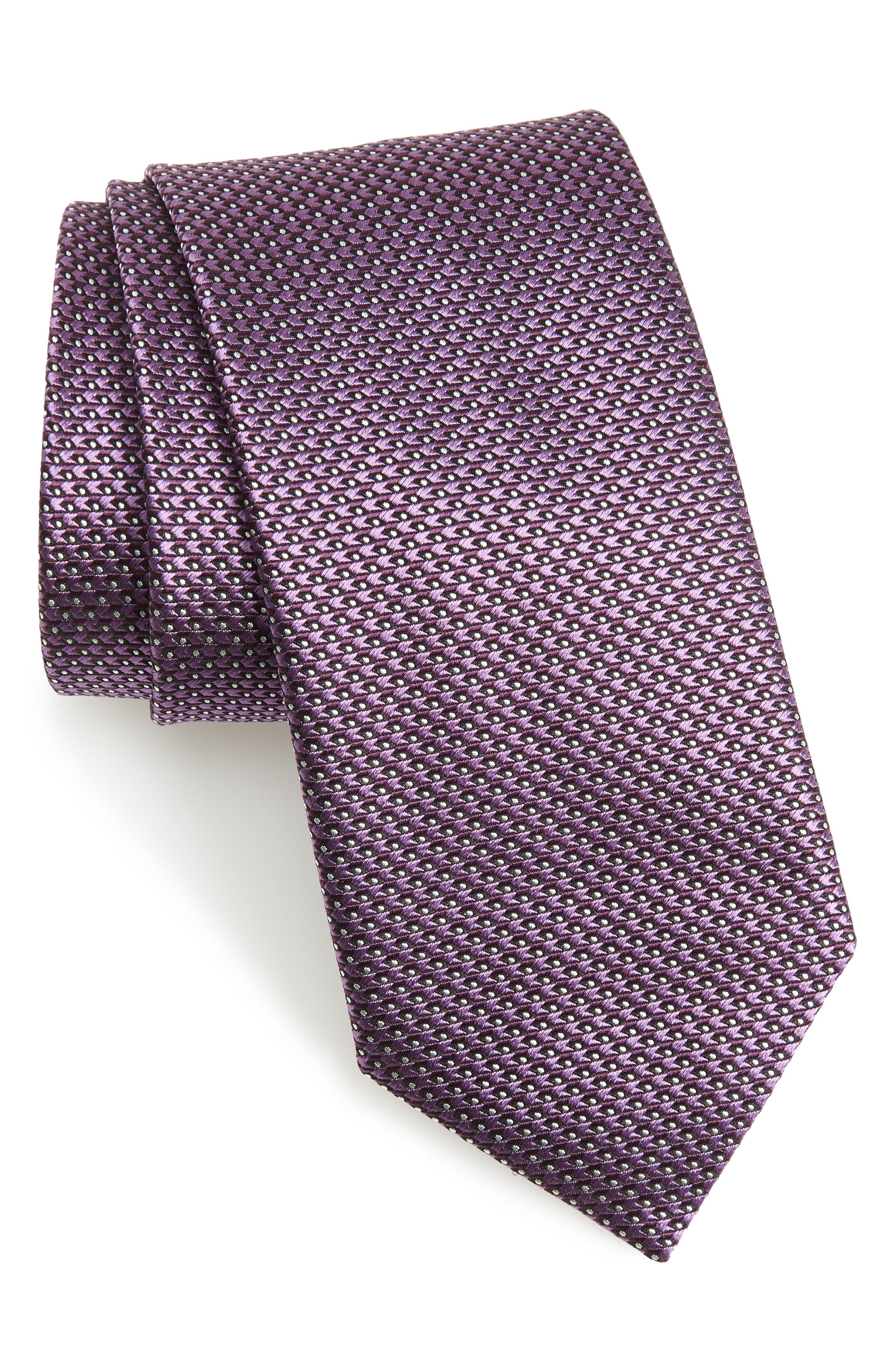 Solid Silk Tie,                             Main thumbnail 1, color,                             Purple