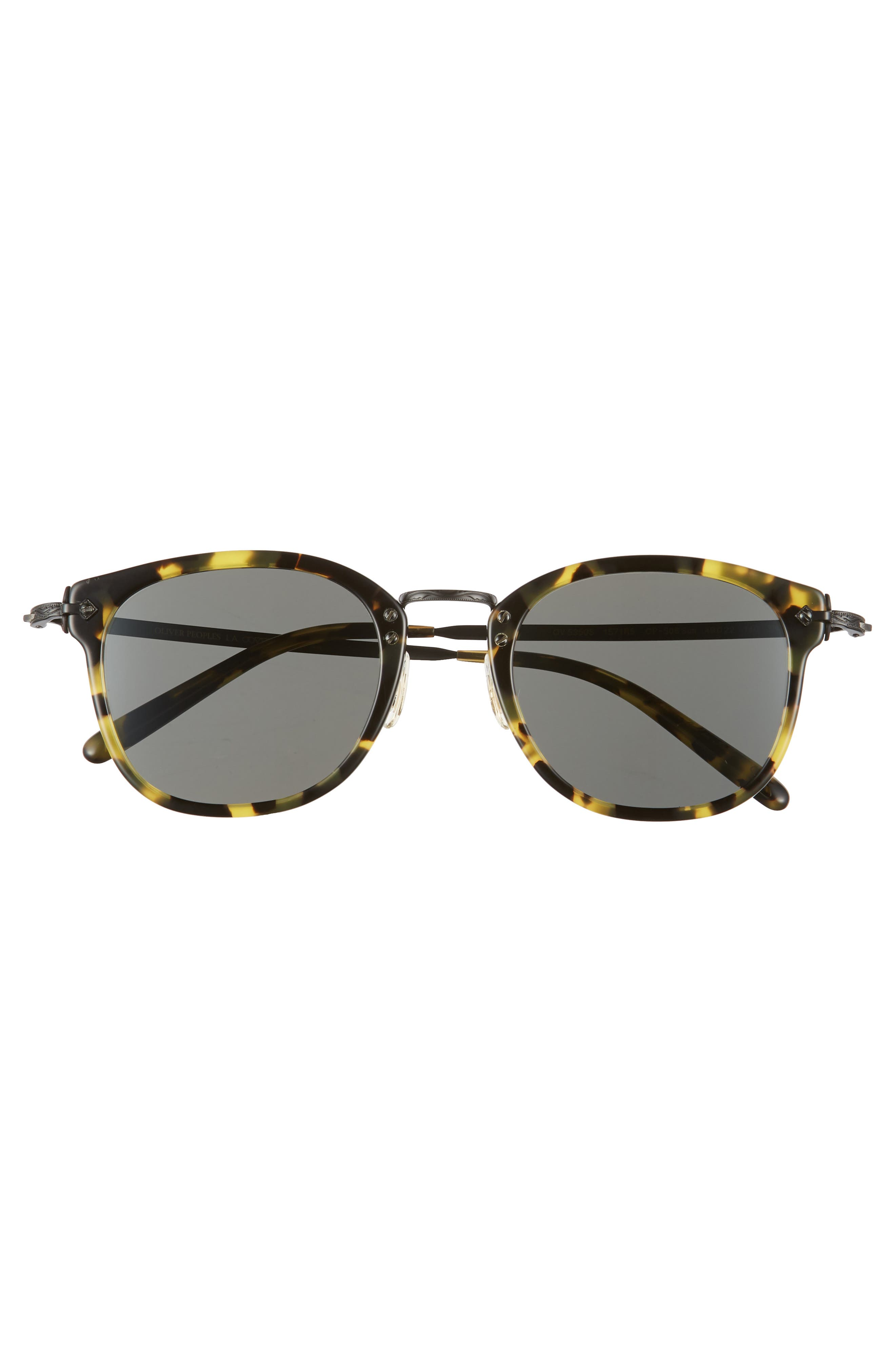 49mm Round Sunglasses,                             Alternate thumbnail 3, color,                             Vintage Dark Tortoise