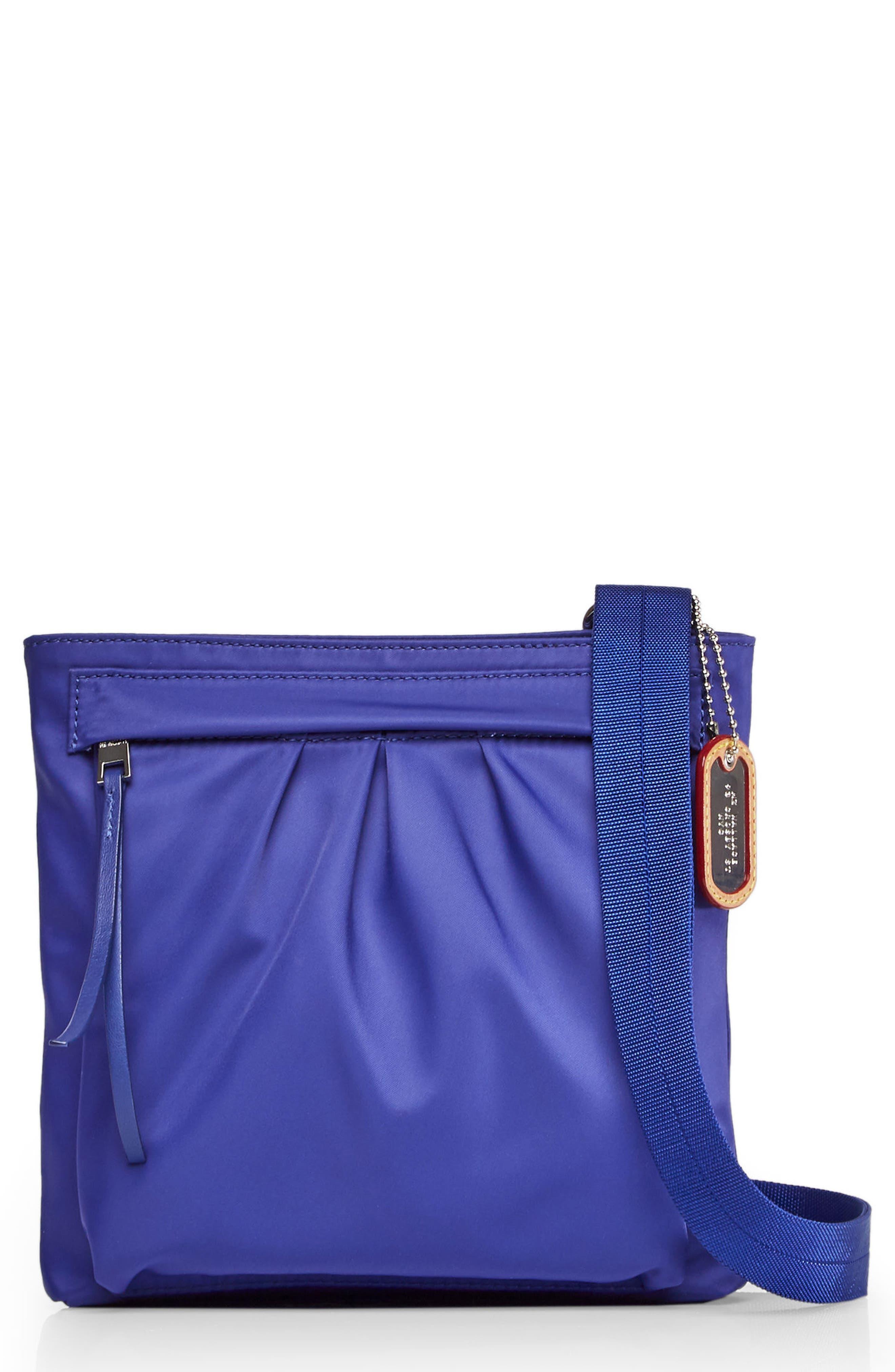 Jordan Bedford Nylon Crossbody Bag,                         Main,                         color, Spectrum Blue