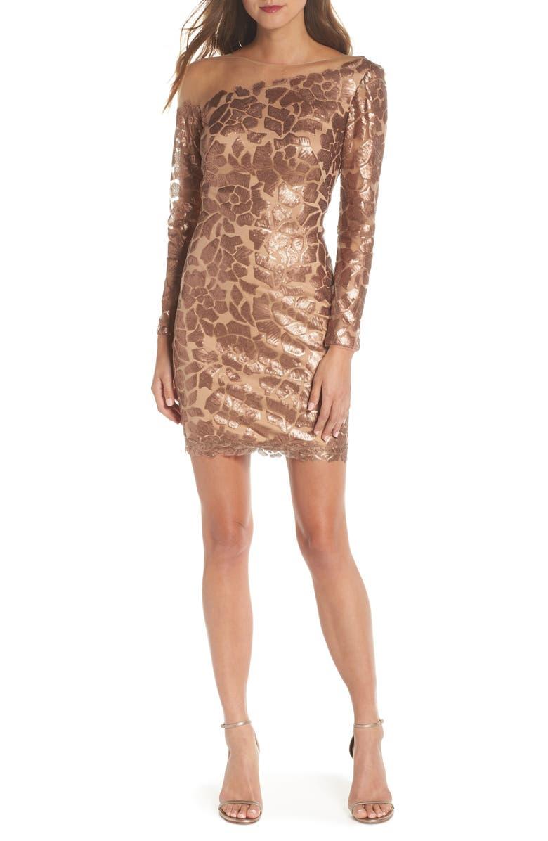 Sequin Illusion Body-Con Dress