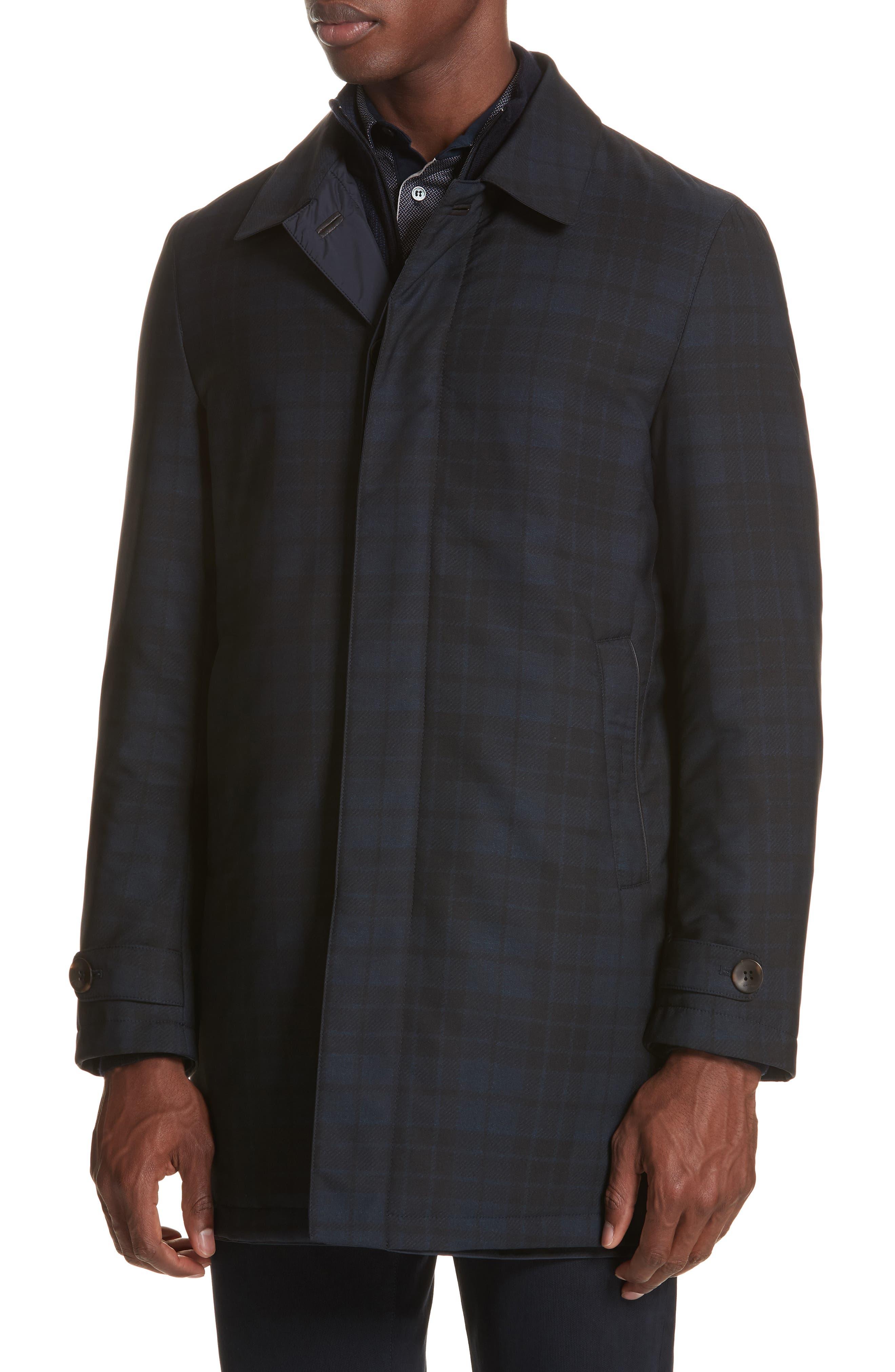Regular Fit Reversible Raincoat,                             Alternate thumbnail 4, color,                             Blue