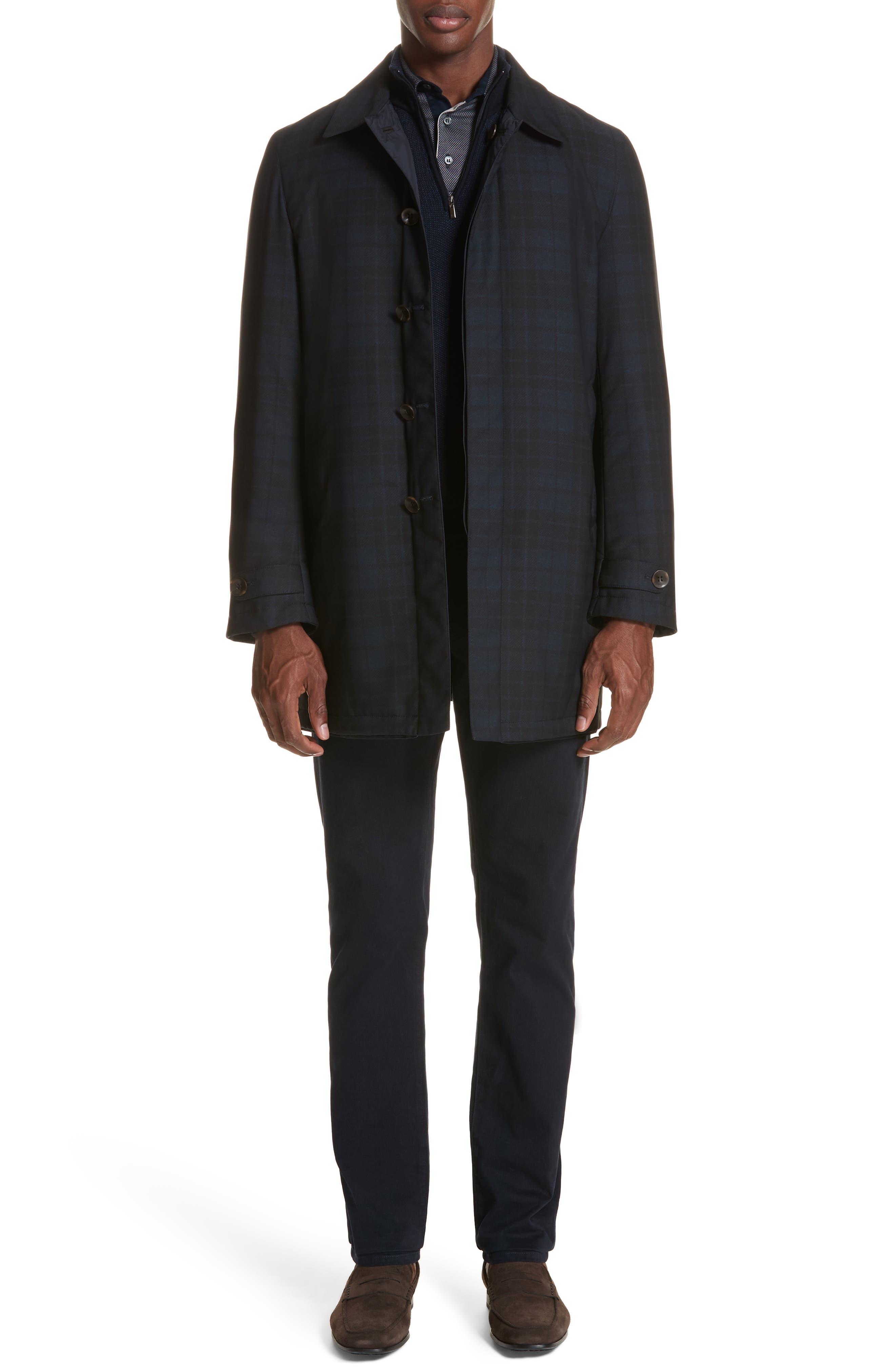 Regular Fit Reversible Raincoat,                             Alternate thumbnail 7, color,                             Blue