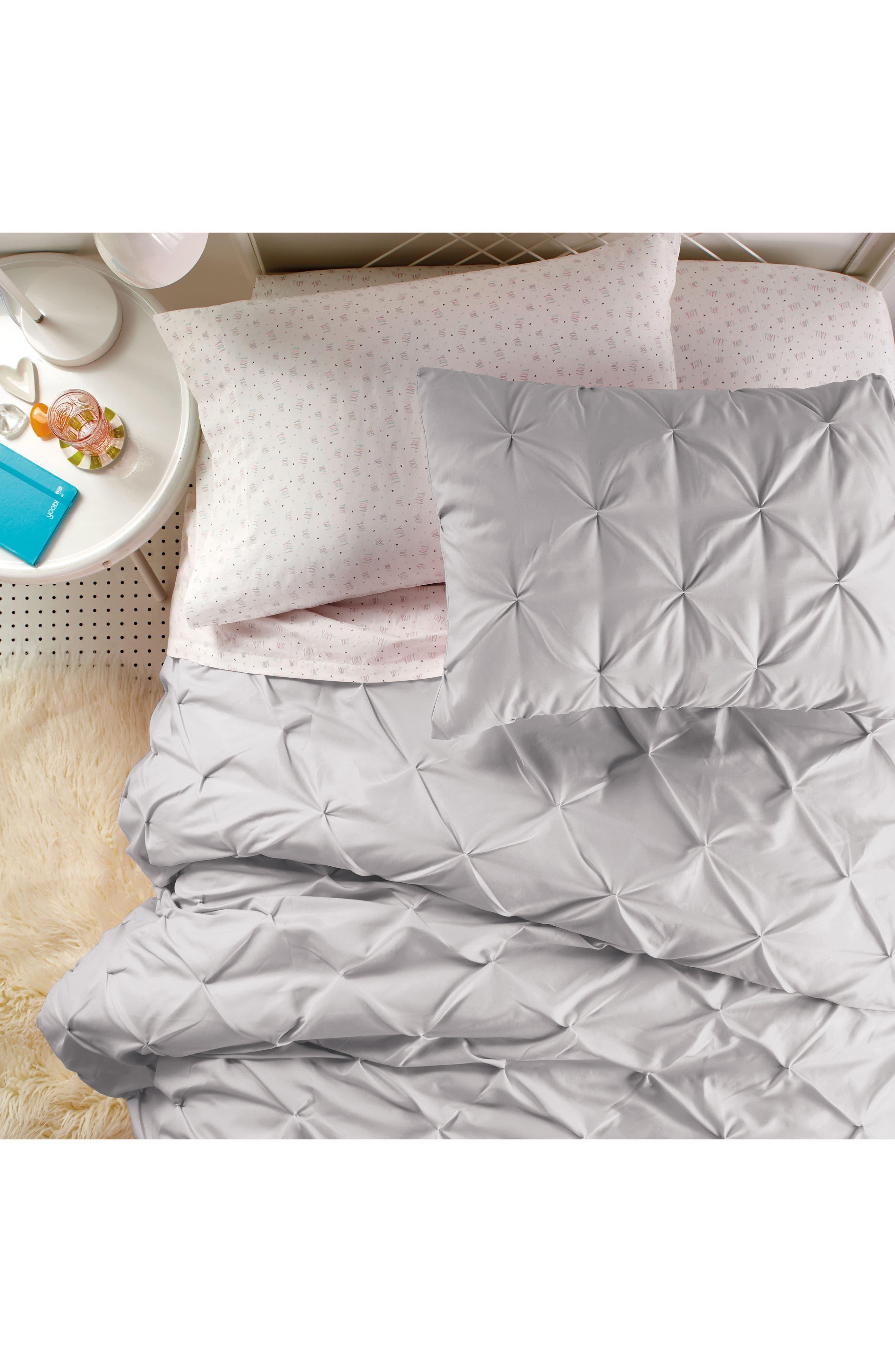 Comforter & Sham Set,                             Alternate thumbnail 5, color,                             Grey
