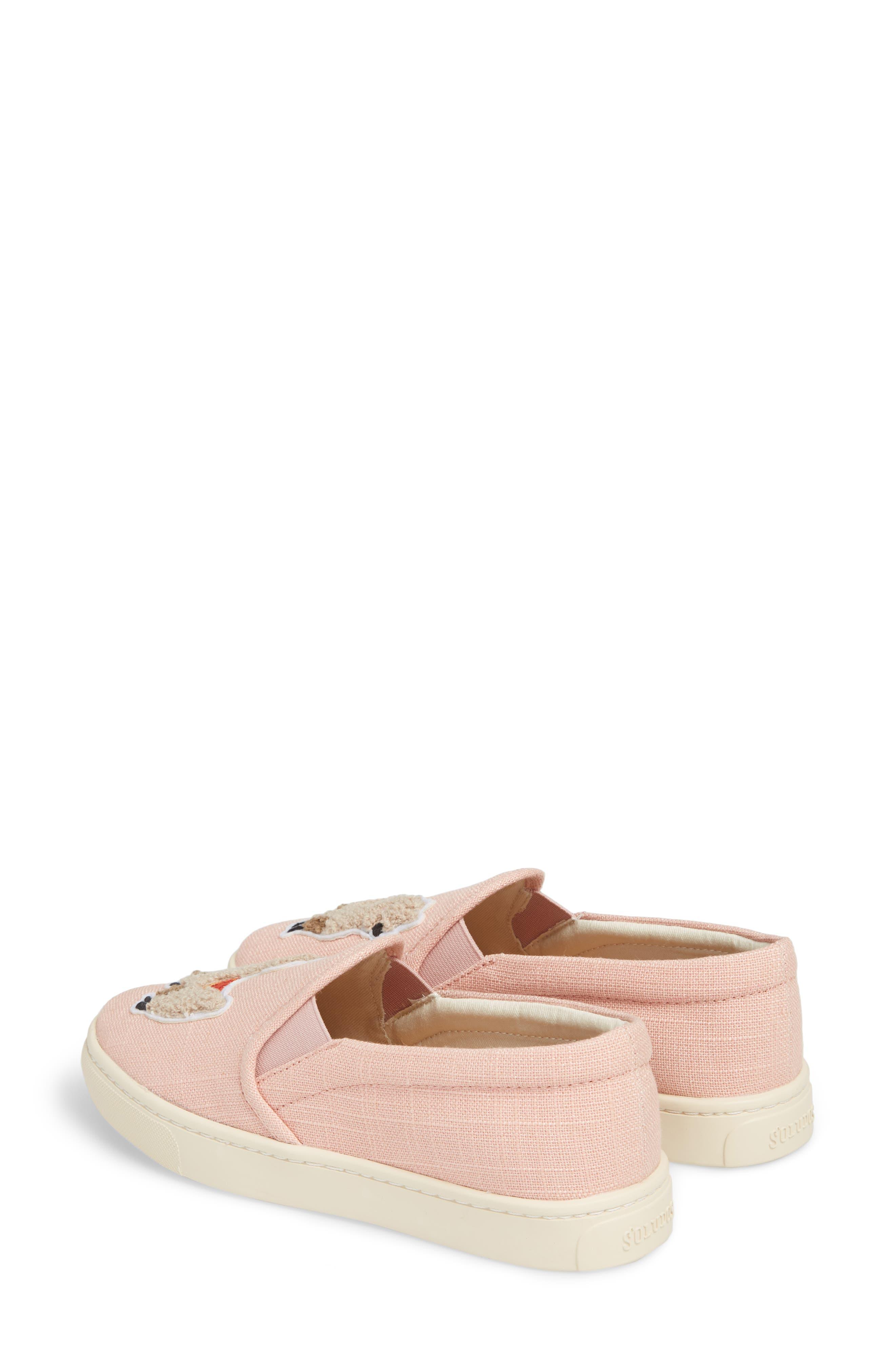 Llama Slip-On Sneaker,                             Alternate thumbnail 3, color,                             Dusty Rose Fabric