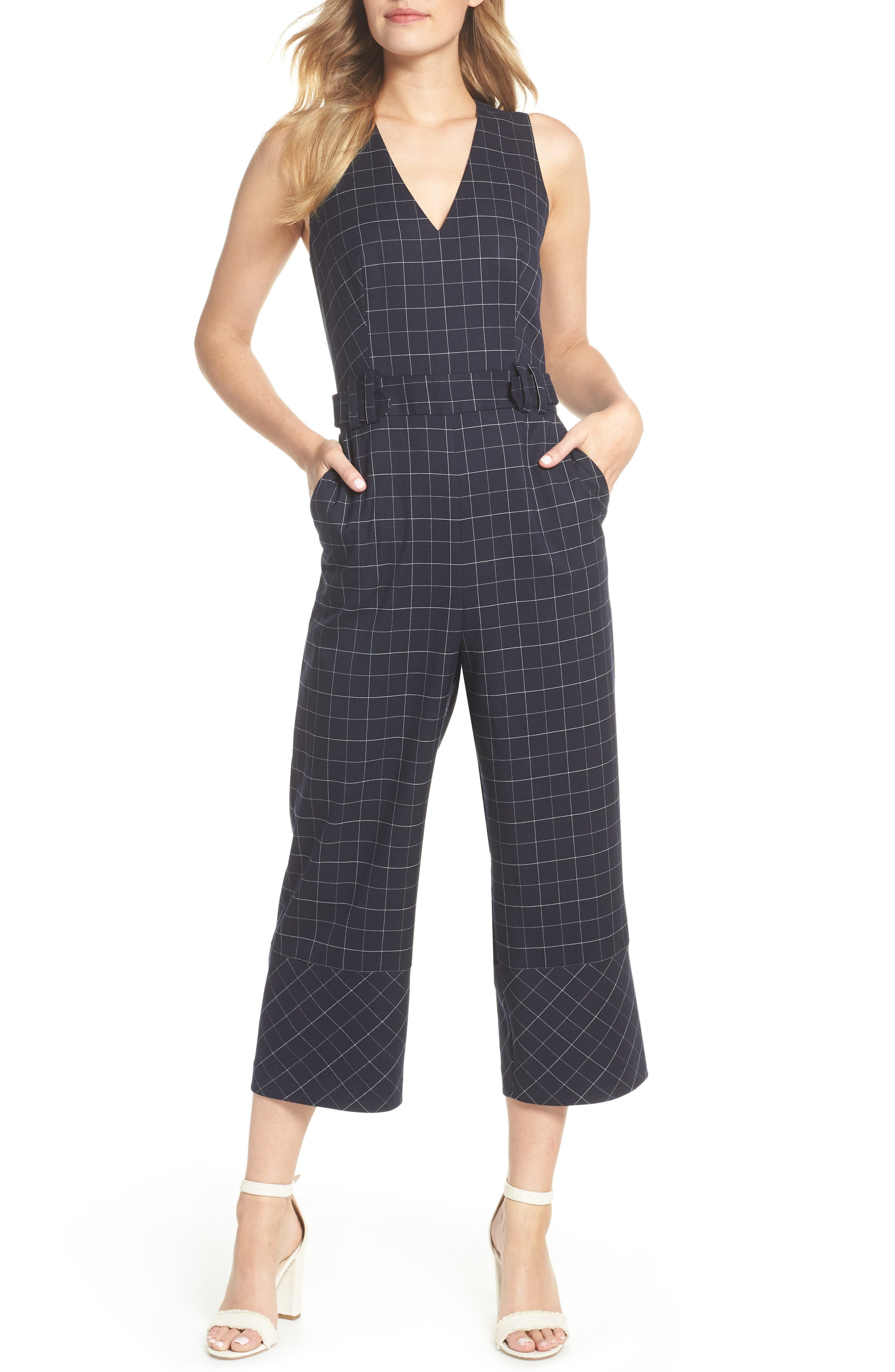 WINDOWPANE JUMPSUIT