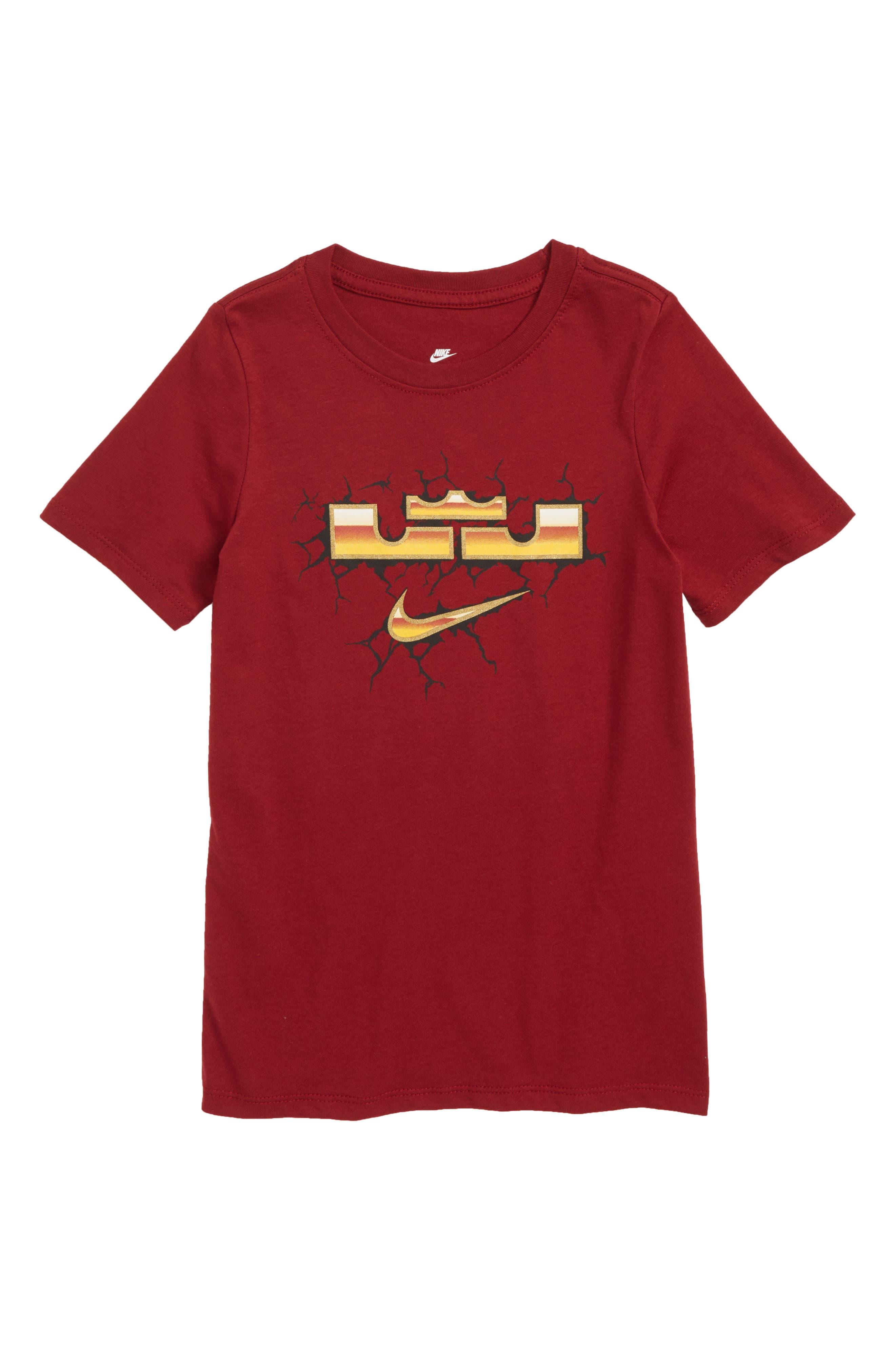 LeBron Dry T-Shirt,                             Main thumbnail 1, color,                             Team Red