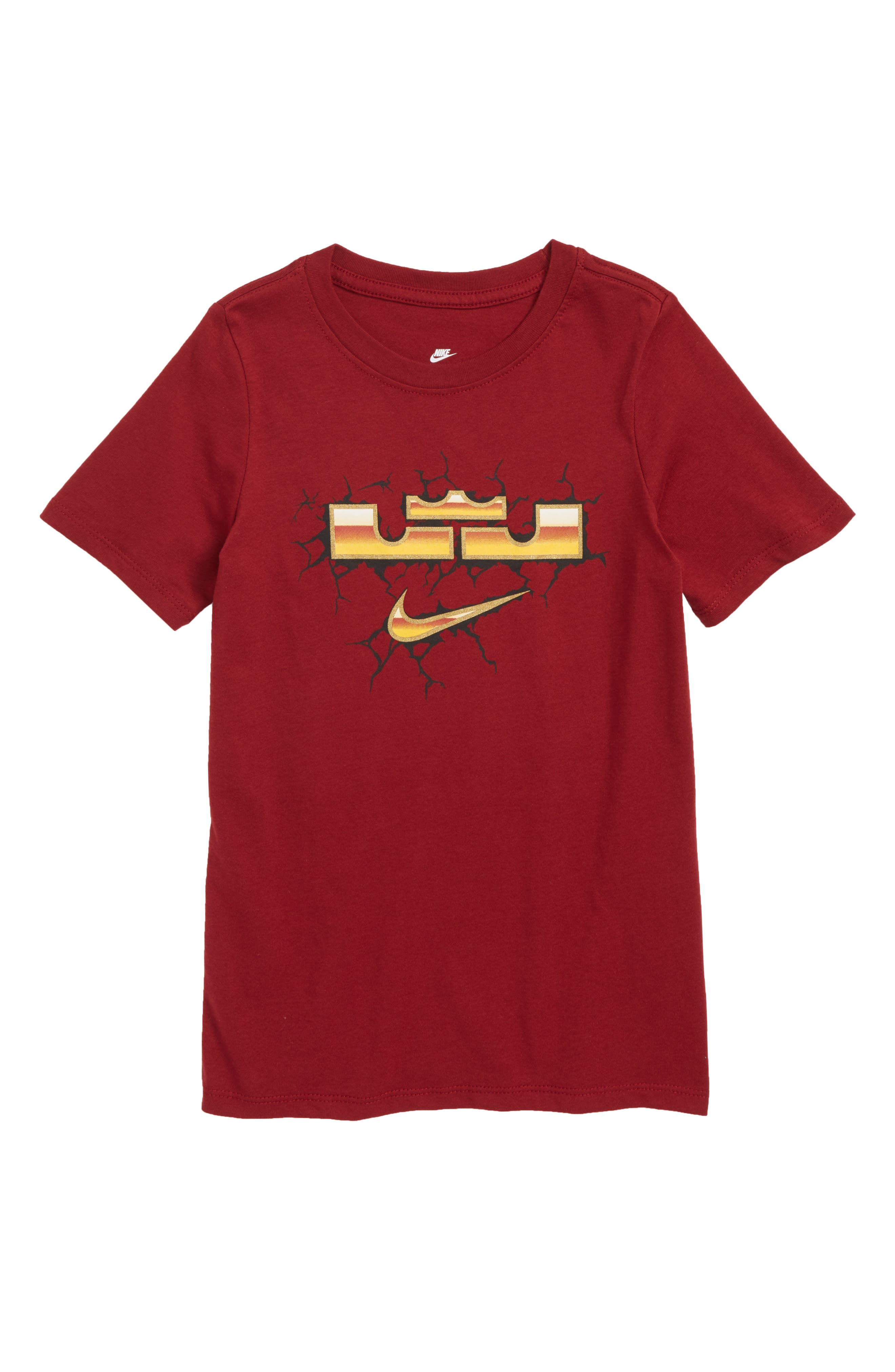 LeBron Dry T-Shirt,                         Main,                         color, Team Red
