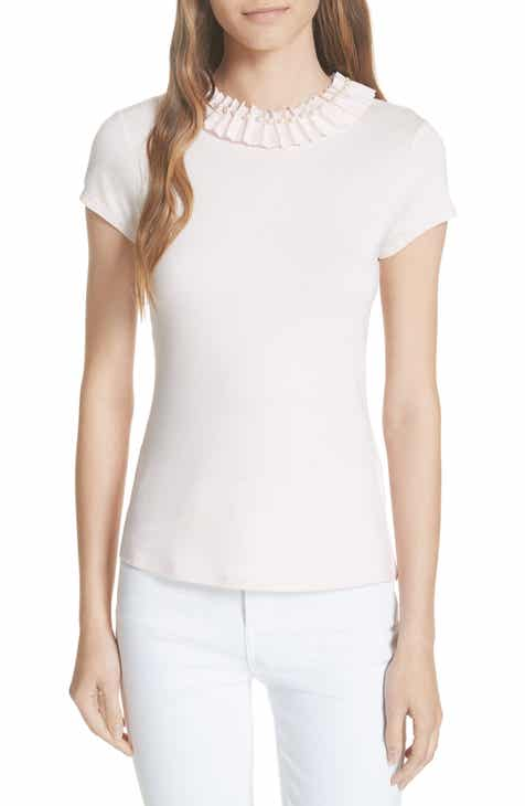 434df6d87c4078 Ted Baker London Nickita Imitation Pearl Neck Top