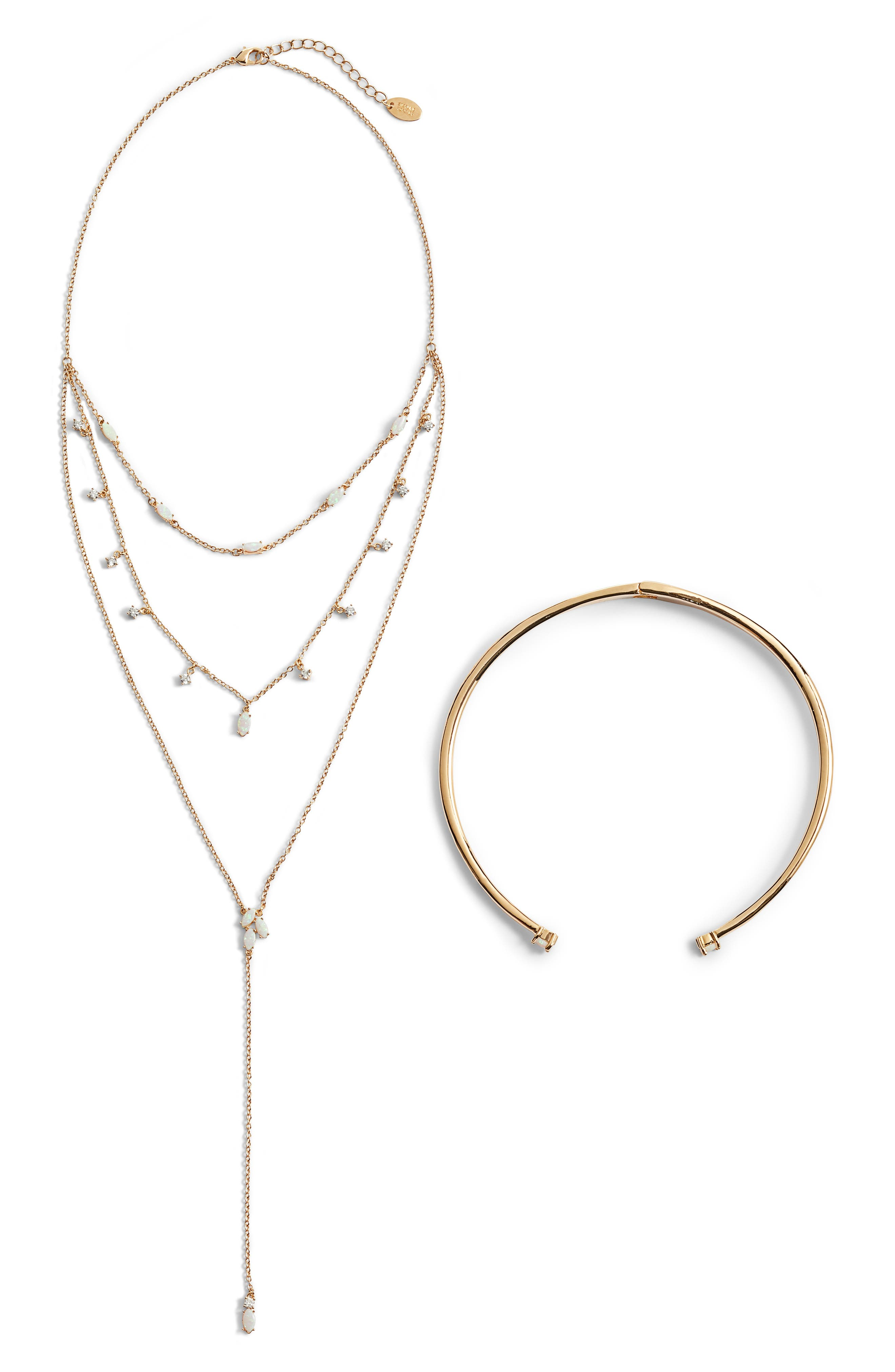 Hearts on Fire Layered Necklace & Choker Set,                         Main,                         color, Gold