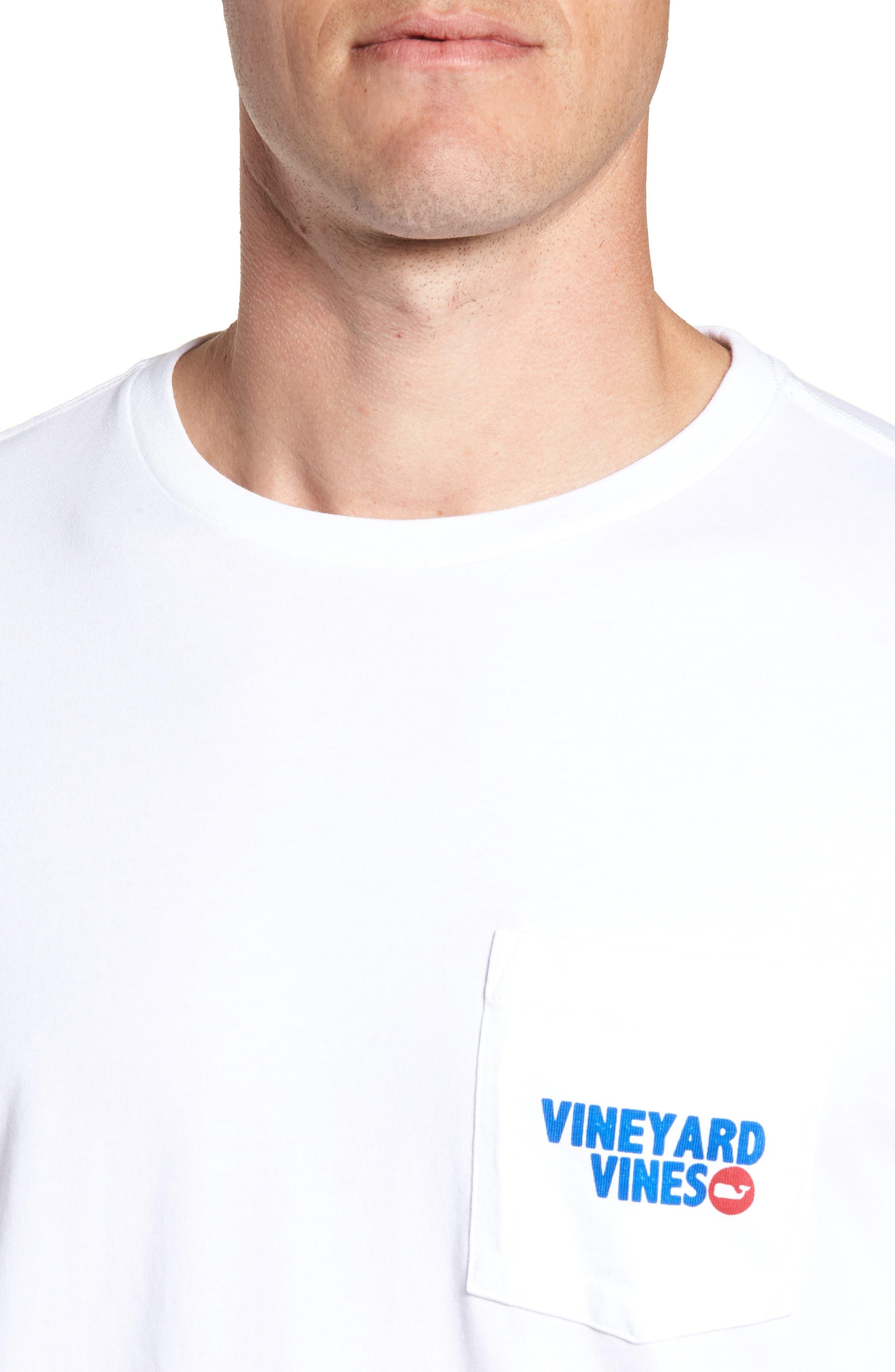RW&B Story Graphic Long Sleeve Pocket T-Shirt,                             Alternate thumbnail 3, color,                             White Cap