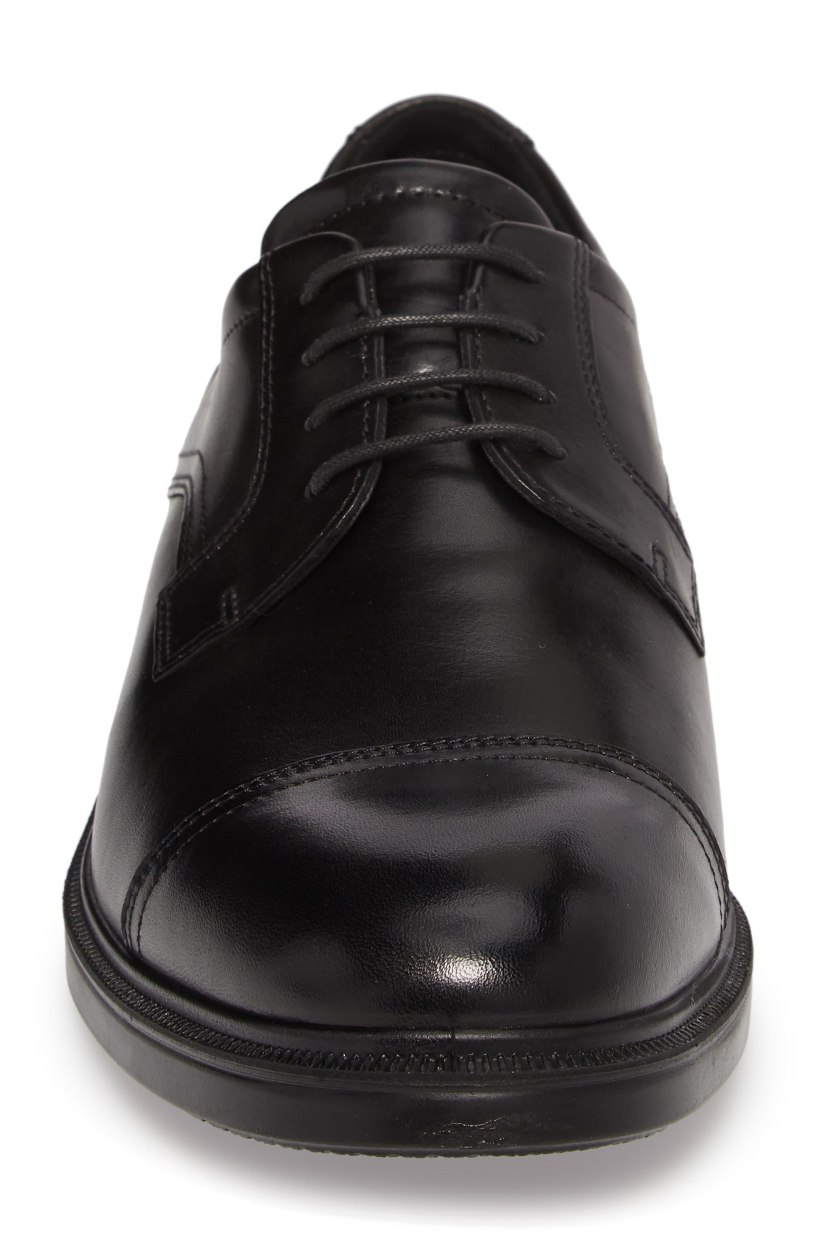 Lisbon Cap Toe Derby,                             Alternate thumbnail 3, color,                             Black