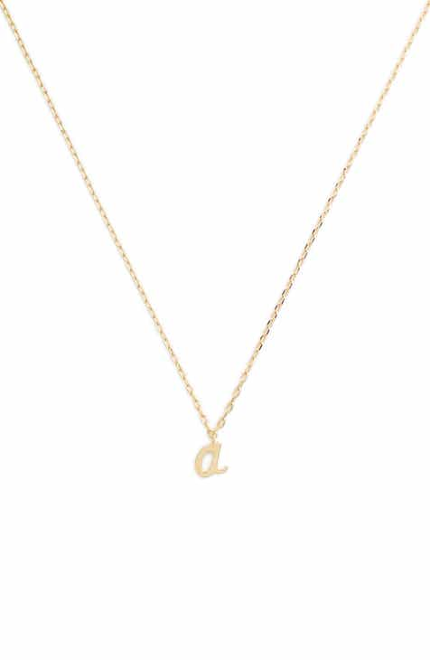 Letter necklace nordstrom kate spade one in a million initial pendant necklace aloadofball Images