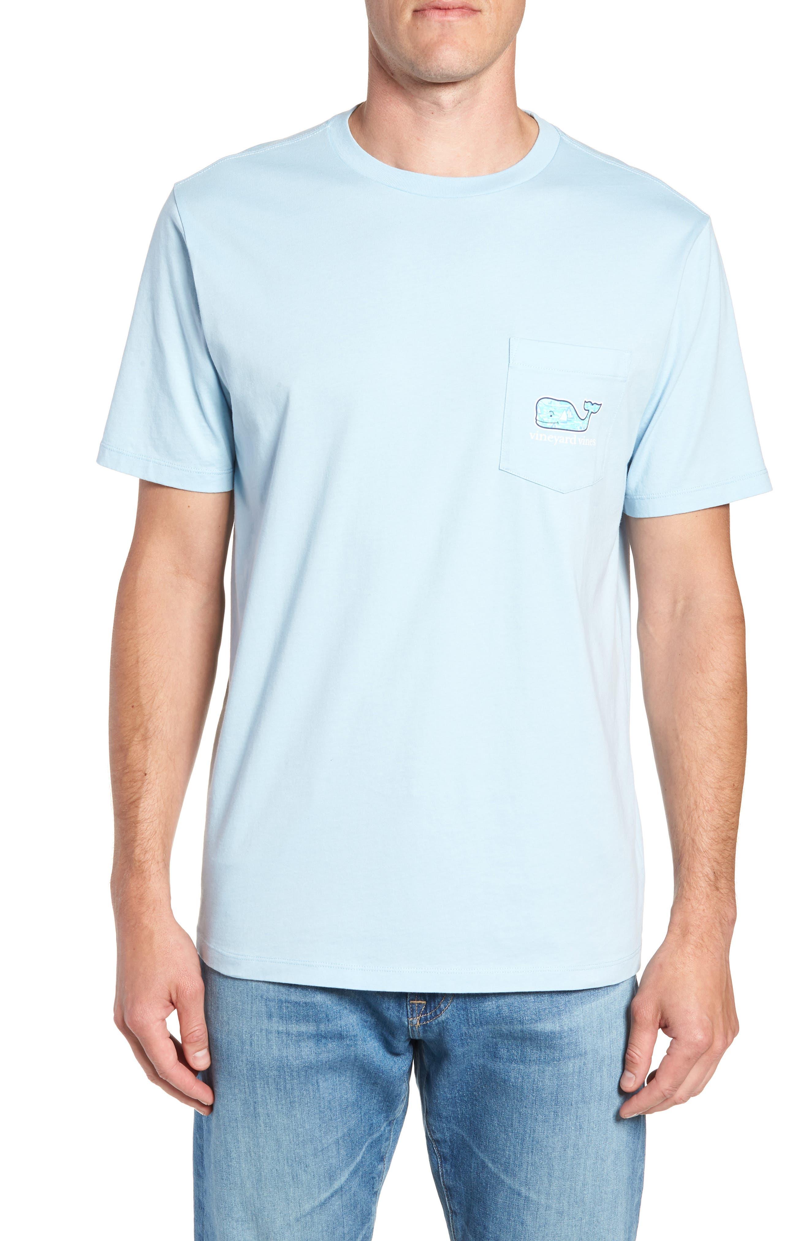 Sailing the Vineyard Pocket T-Shirt,                         Main,                         color, Jake Blue