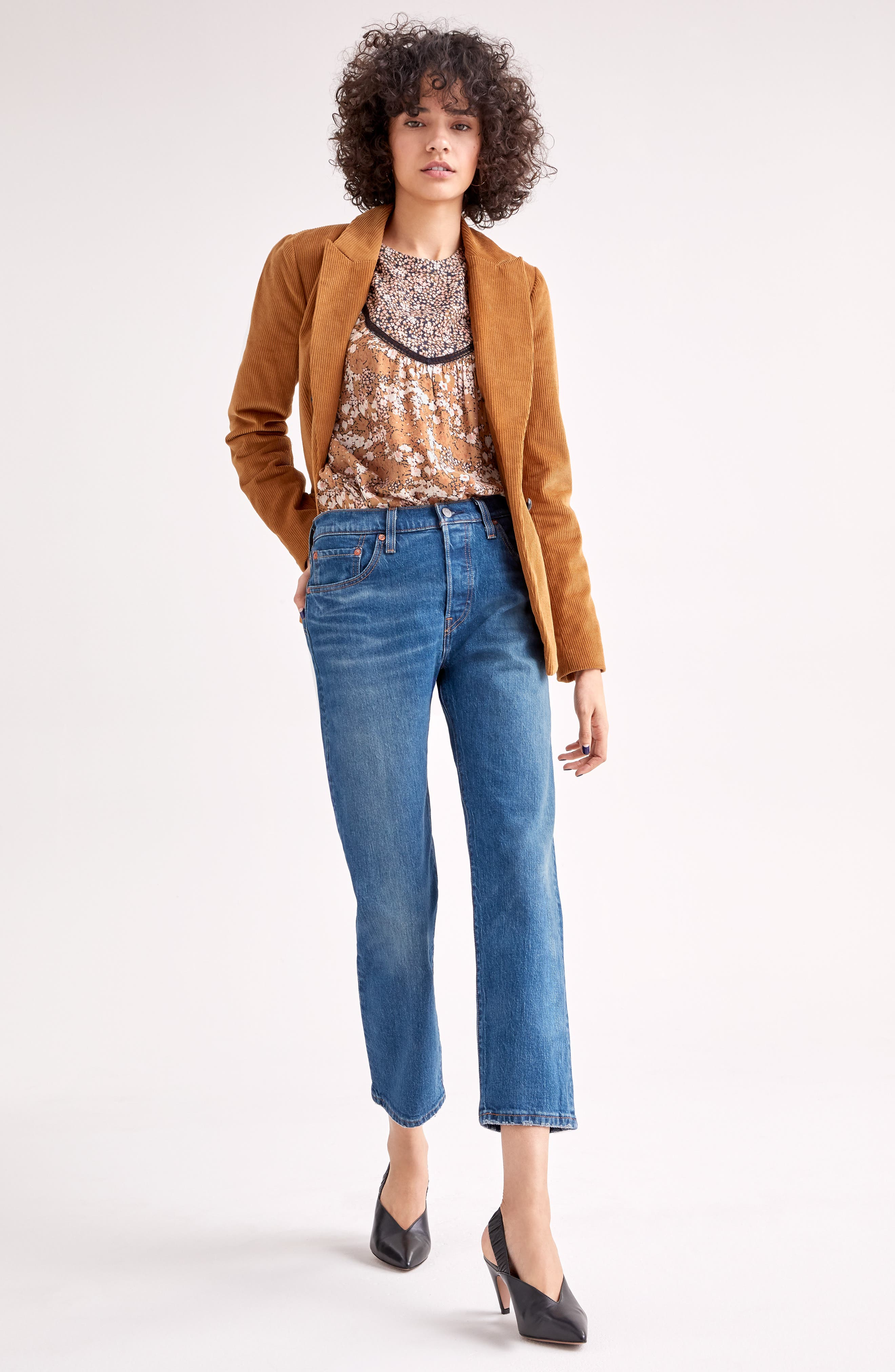 Double Breasted Corduroy Blazer,                             Alternate thumbnail 9, color,