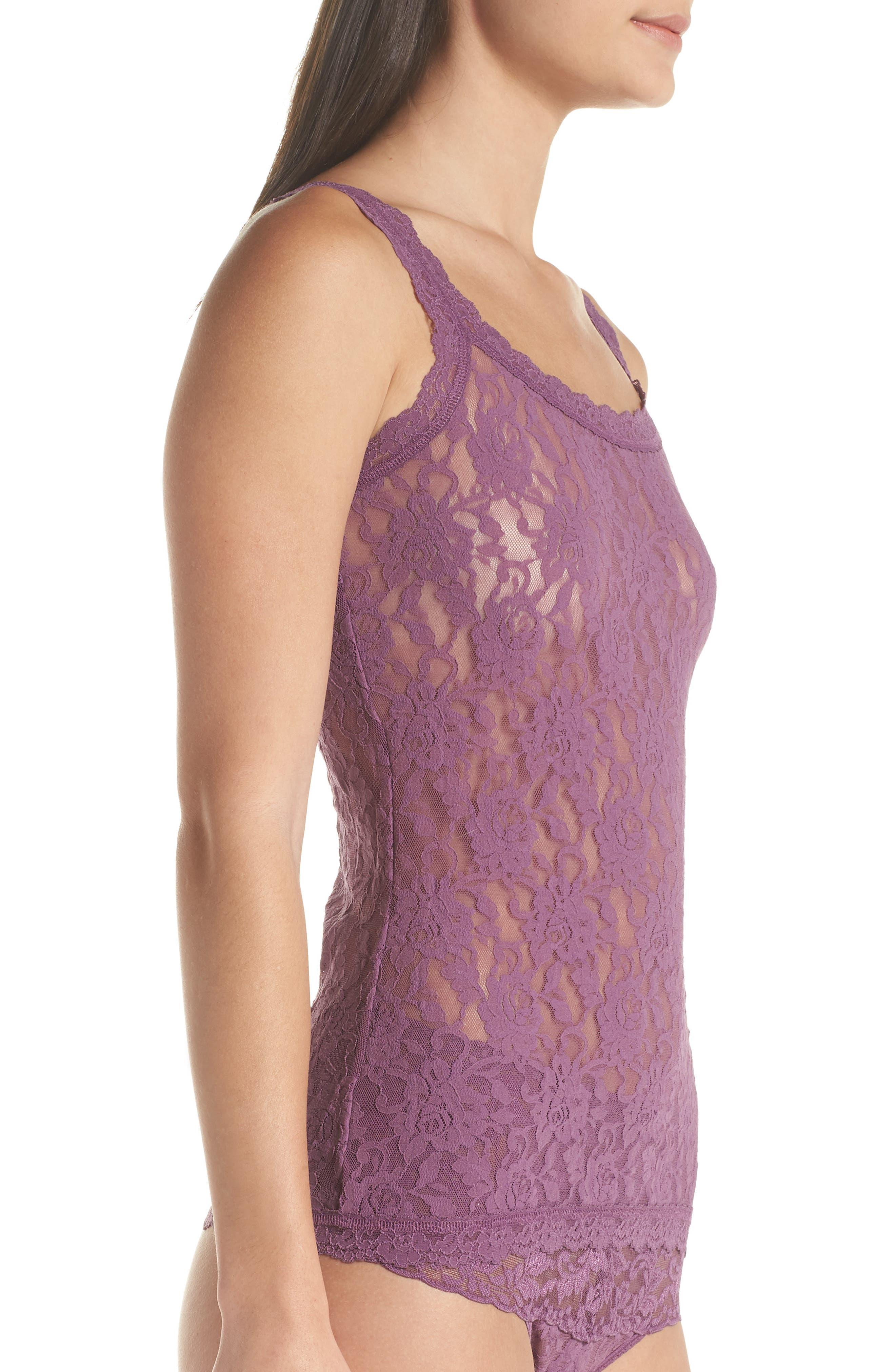 'Signature Lace' Camisole,                             Alternate thumbnail 3, color,                             Valiant Purple