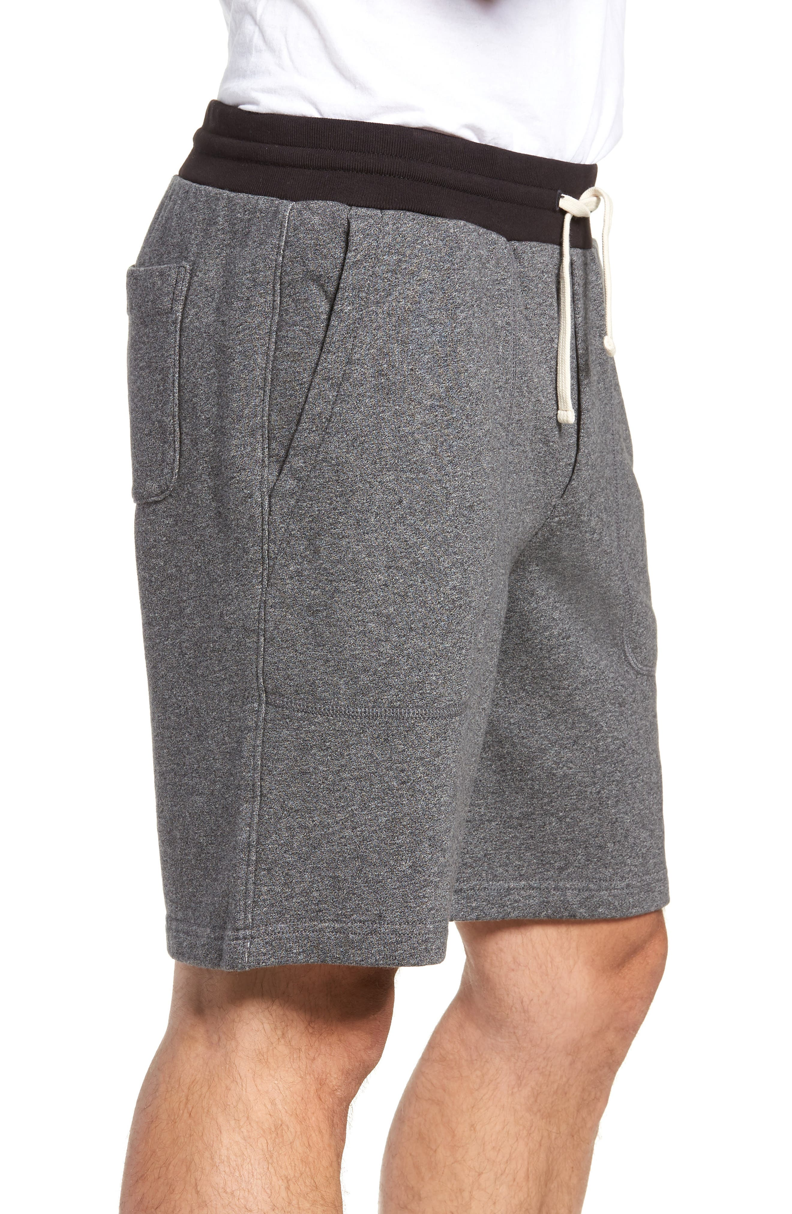 French Terry Shorts,                             Alternate thumbnail 5, color,                             Heather Anchor