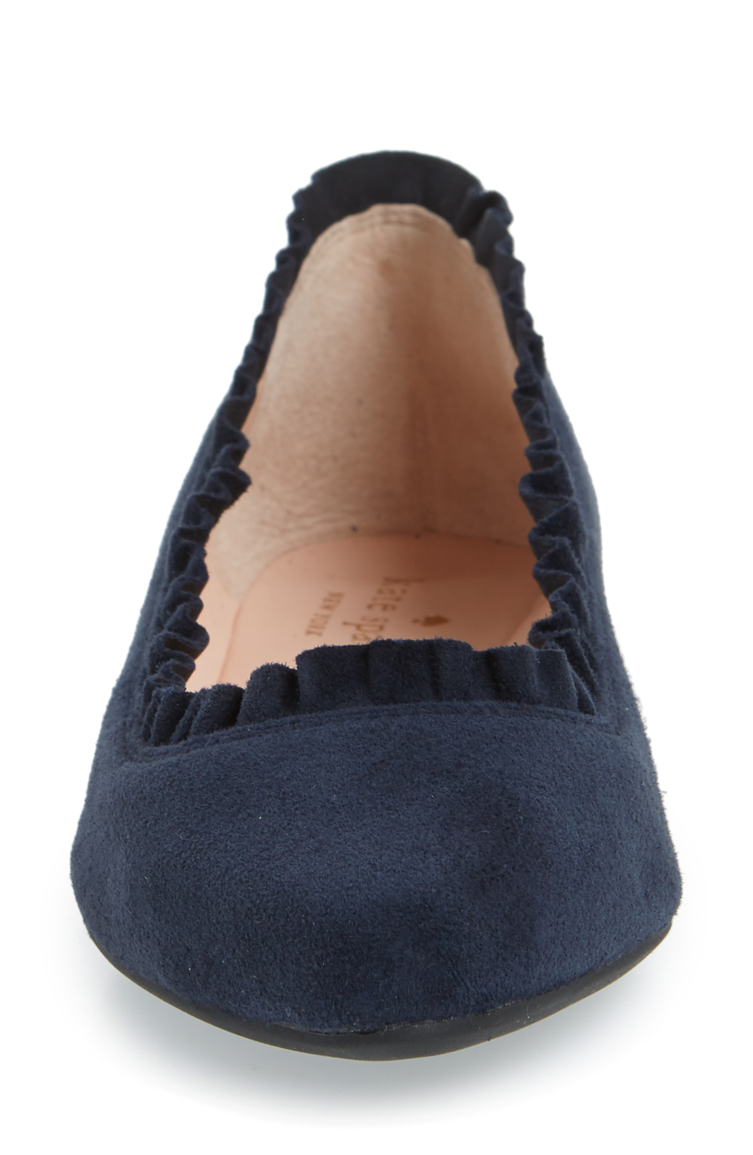 nicole flat,                             Alternate thumbnail 3, color,                             Navy