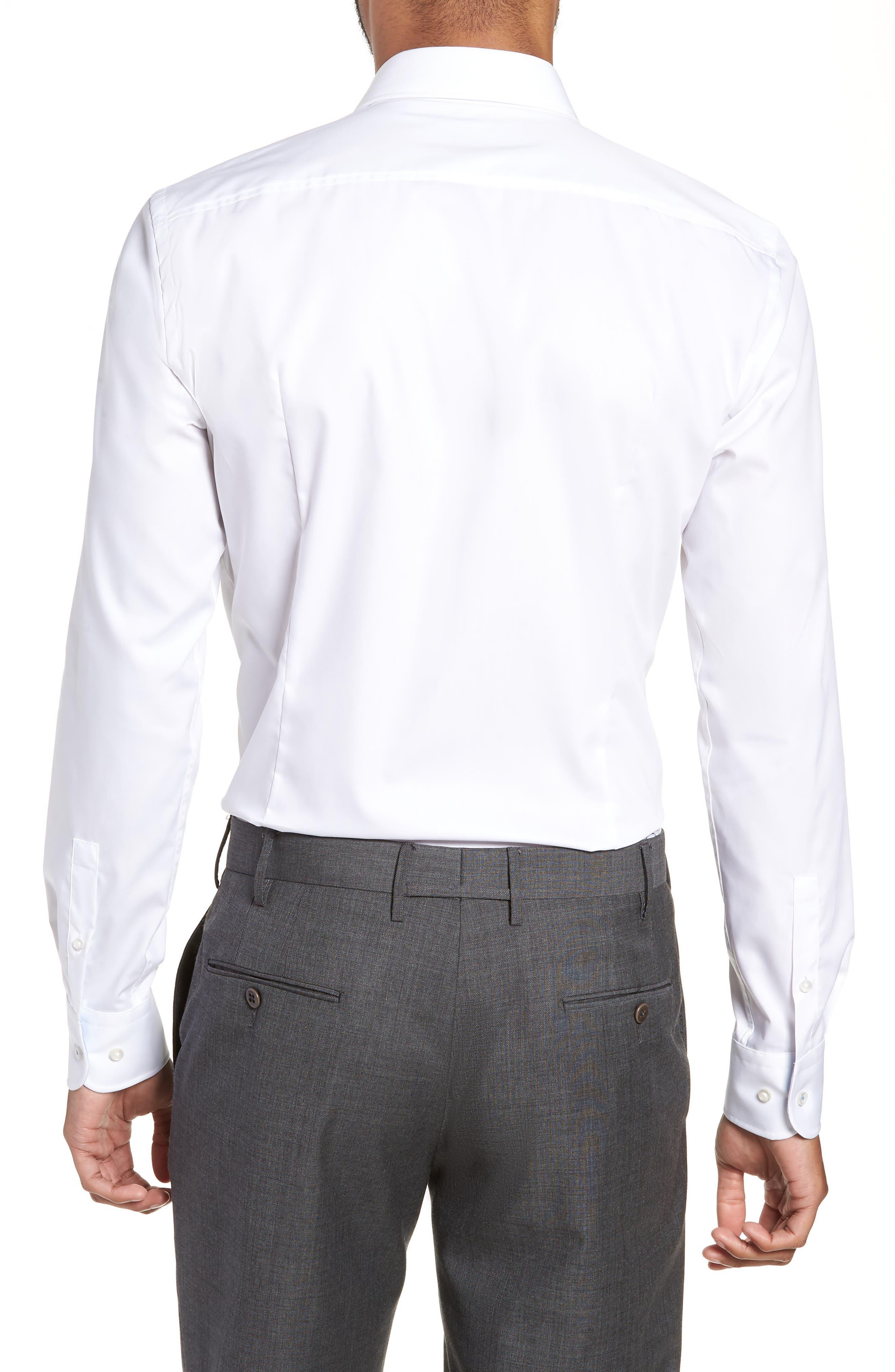 Jesse Slim Fit Easy Iron Dress Shirt,                             Alternate thumbnail 3, color,                             White