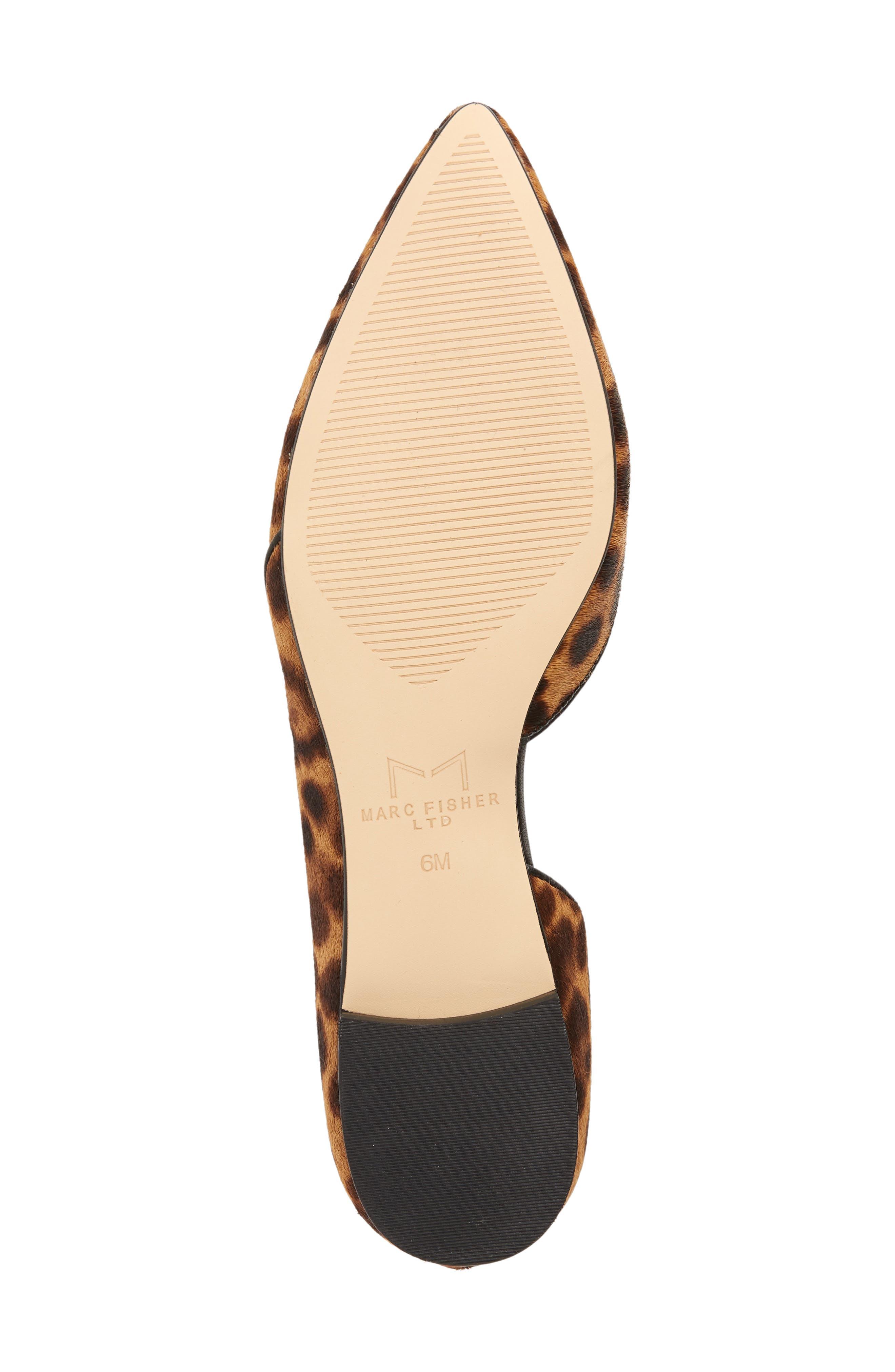 Sunny Genuine Calf Hair Flat,                             Alternate thumbnail 6, color,                             Leopard Calf Hair