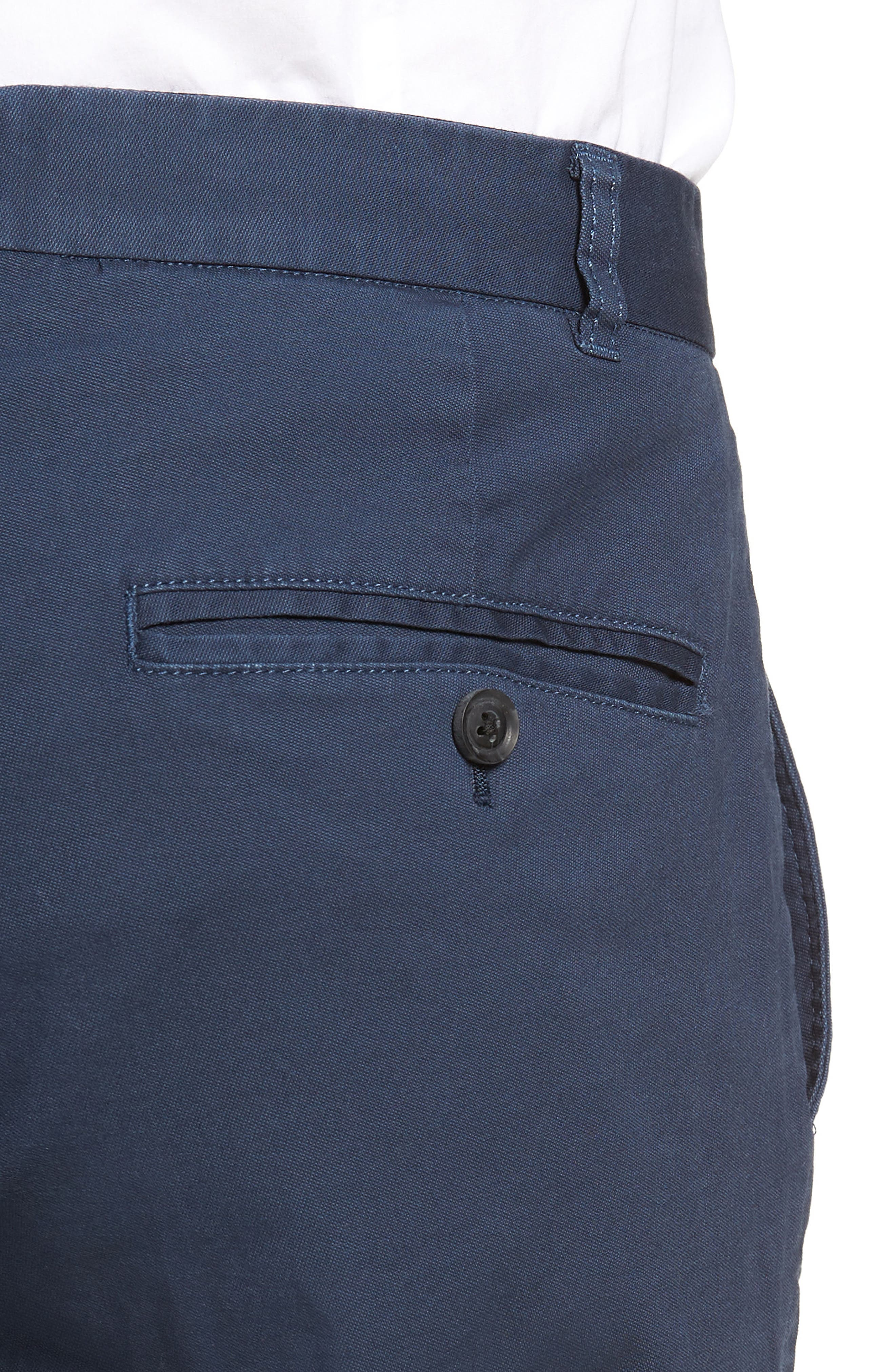 Slim Fit Stretch Twill Pants,                             Alternate thumbnail 5, color,                             Navy