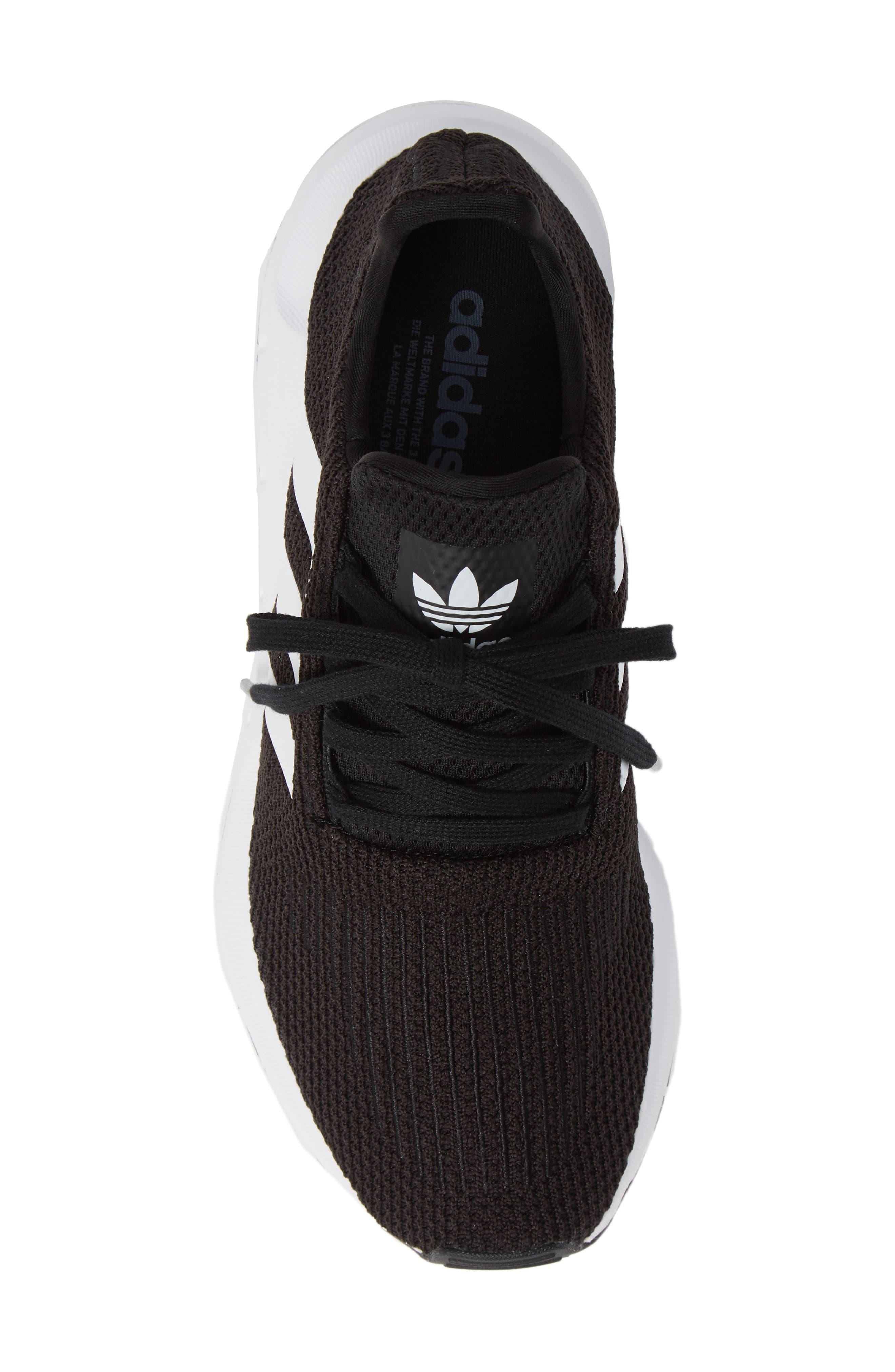 Swift Run Sneaker,                             Alternate thumbnail 5, color,                             Black/ White