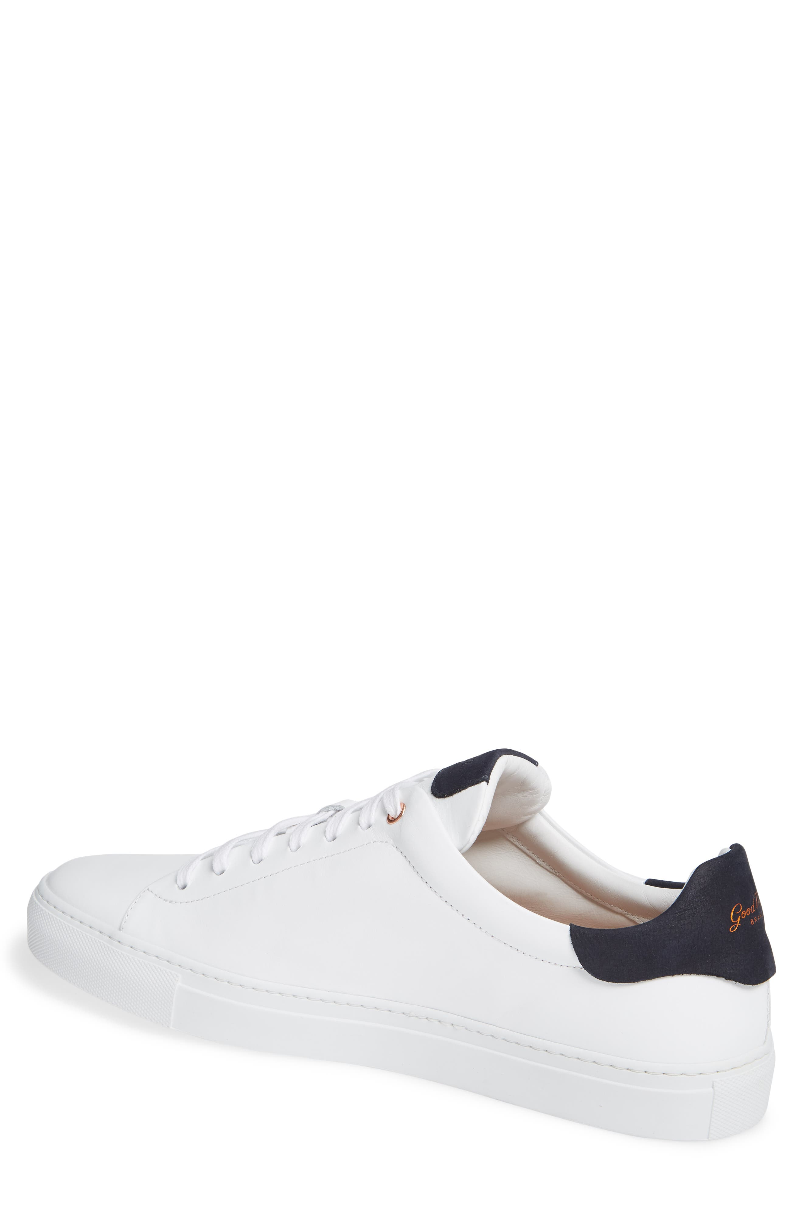 Legend Low Top Sneaker,                             Alternate thumbnail 2, color,                             White / Indigo Nubuck