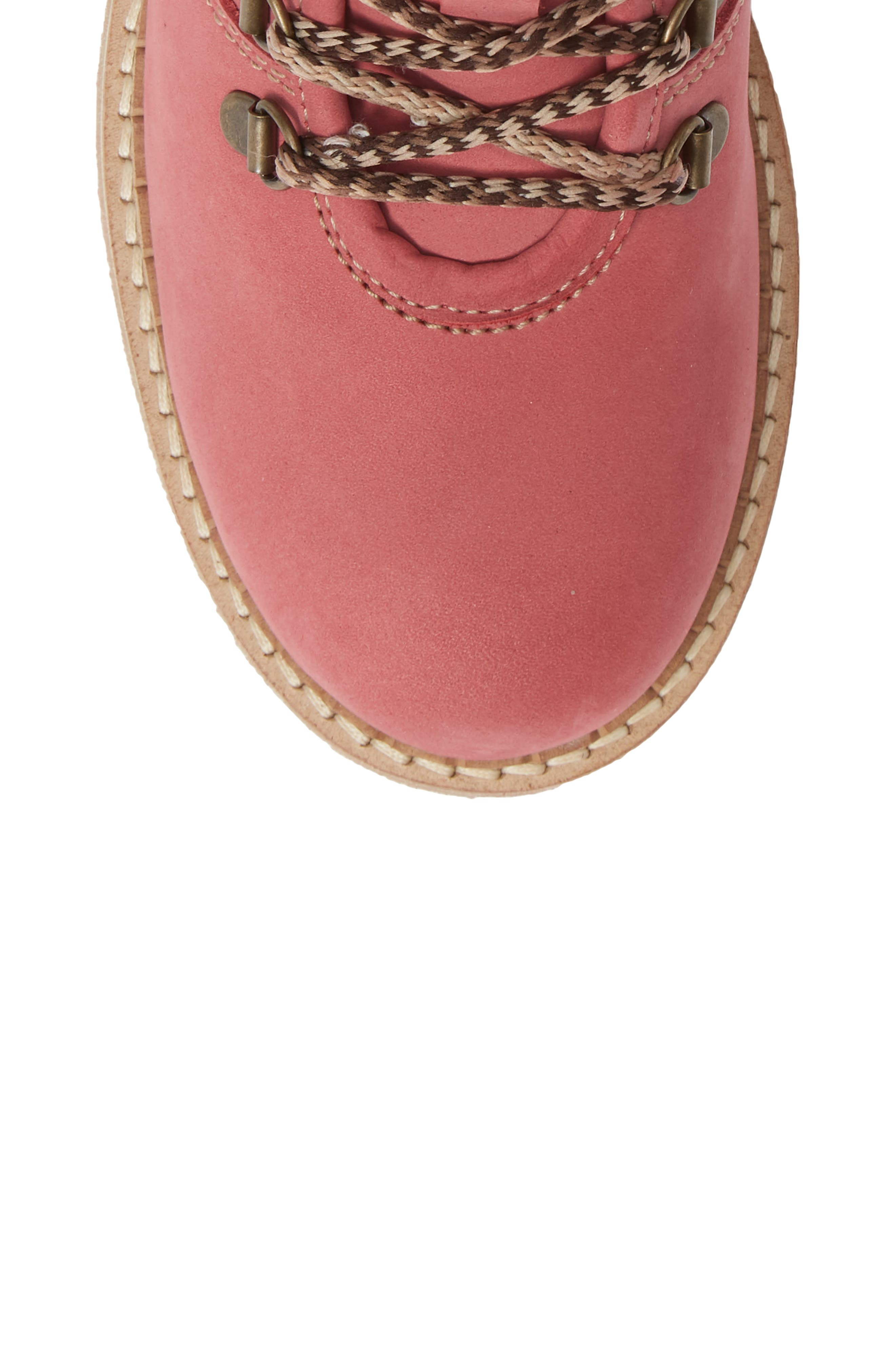 Hartney Waterproof Boot,                             Alternate thumbnail 5, color,                             Rosa Wool
