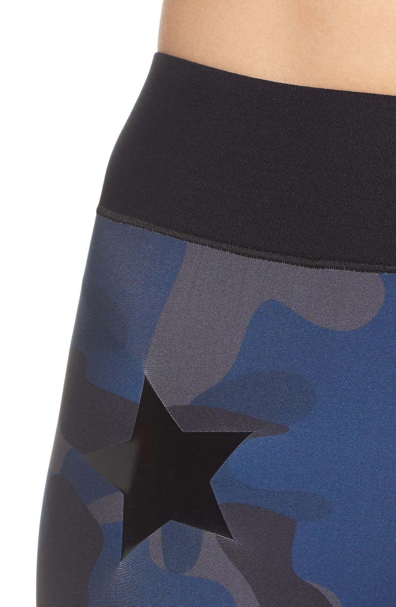 Camo Knockout Leggings,                             Alternate thumbnail 4, color,                             Oxford Blue Patent