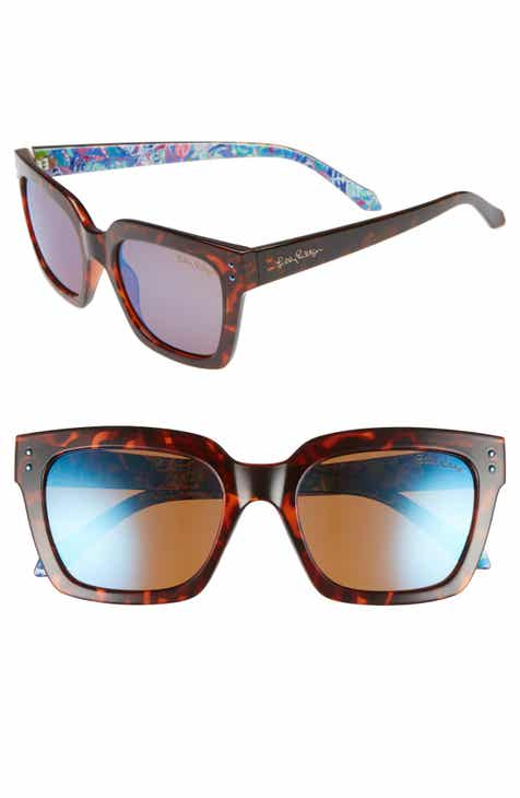 3705ed2d1ae Lilly Pulitzer Celine 54mm Polarized Square Sunglasses
