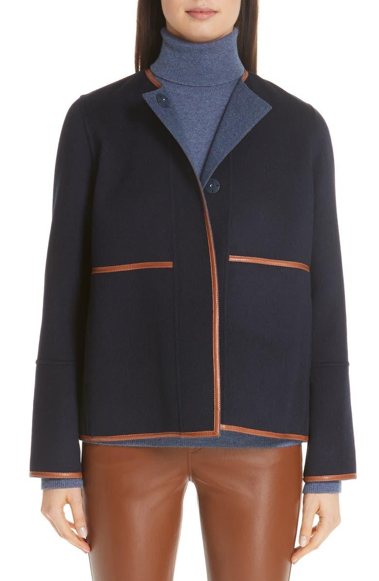 Rayen Leather Trim Reversible Jacket