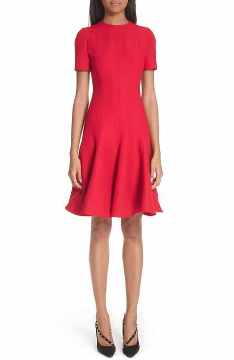 Valentino Crepe A-Line Dress