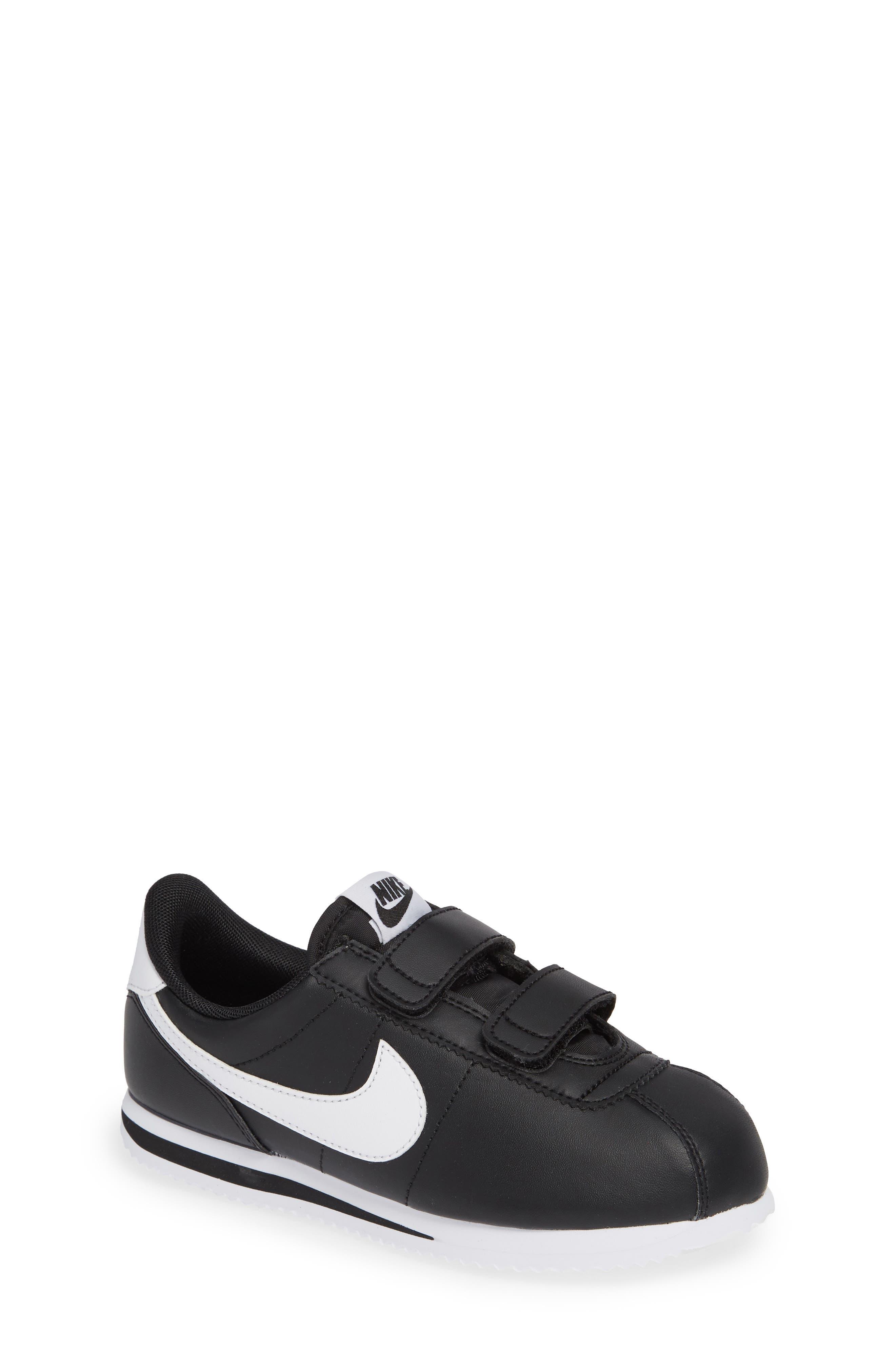 Cortez Basic SL Sneaker,                             Main thumbnail 1, color,                             Black/ White