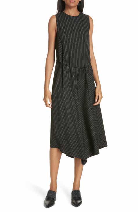 Vince Bar Stripe Paneled Dress by VINCE