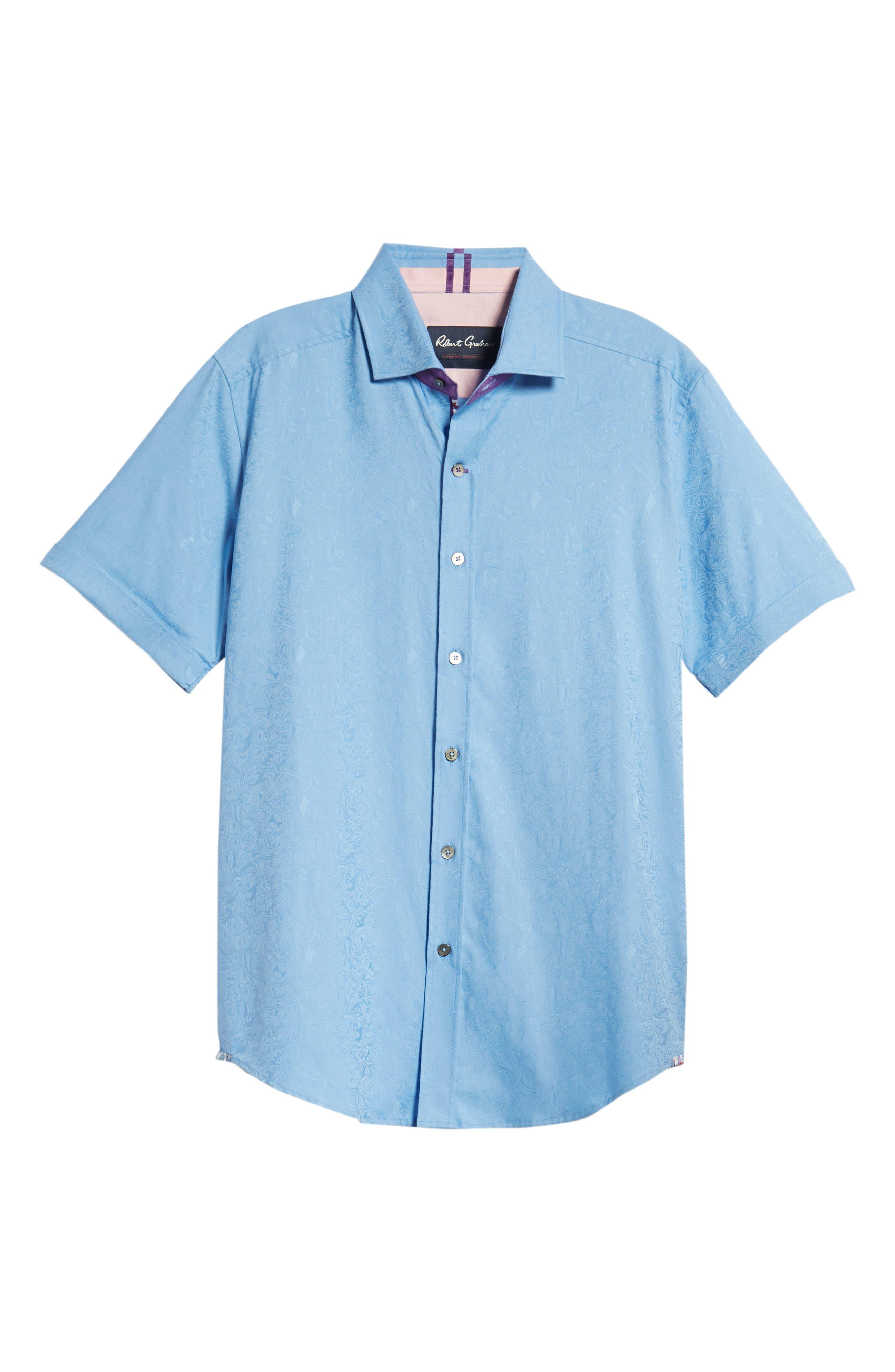 Abbott Sport Shirt,                             Alternate thumbnail 6, color,                             Blue