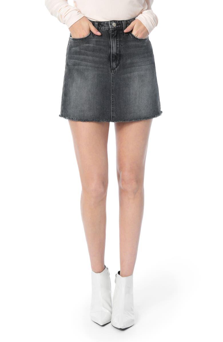 Bella Frayed Hem Denim Skirt