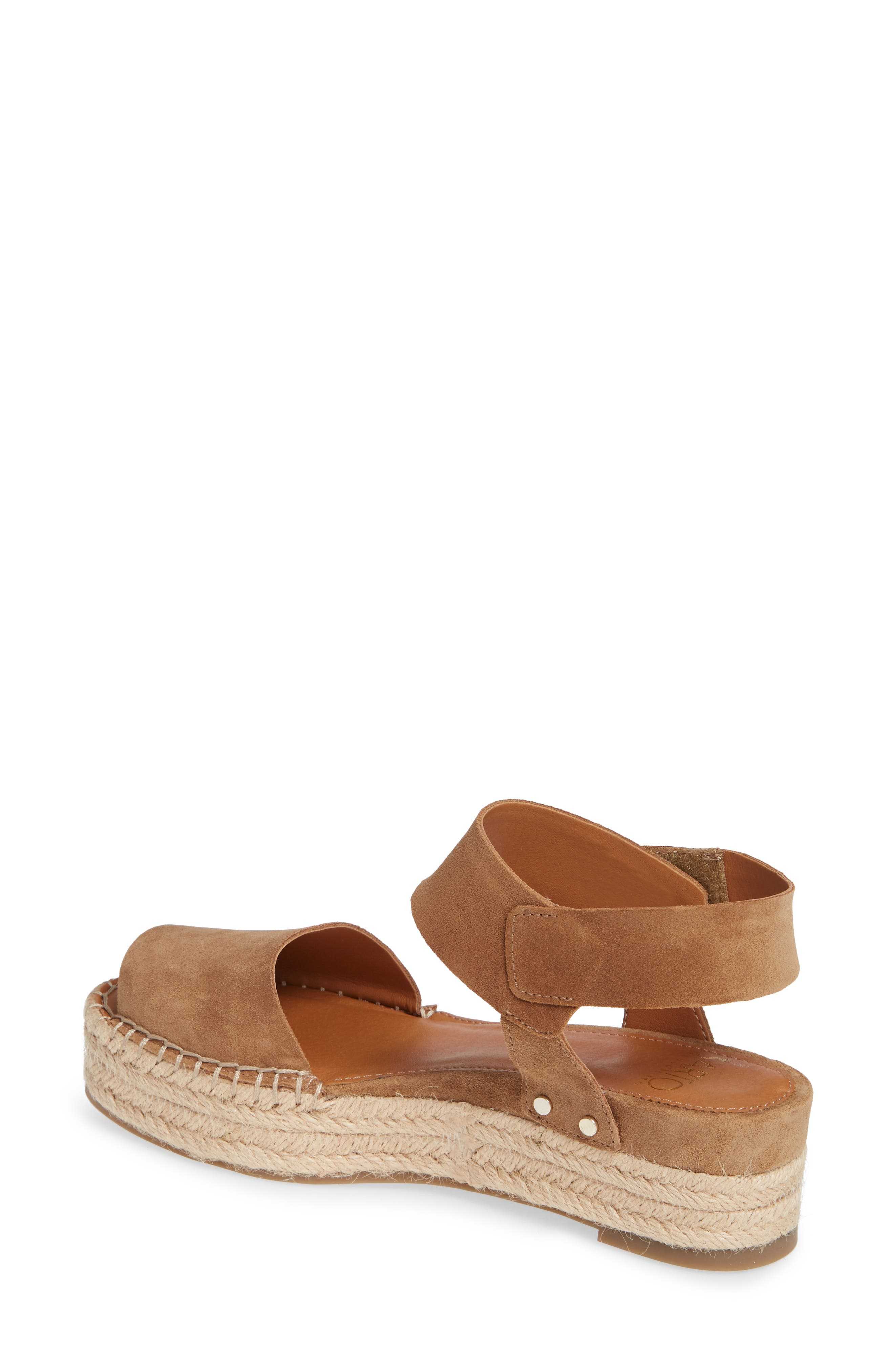 Oak Platform Wedge Espadrille,                             Alternate thumbnail 2, color,                             Toasted Barley Suede