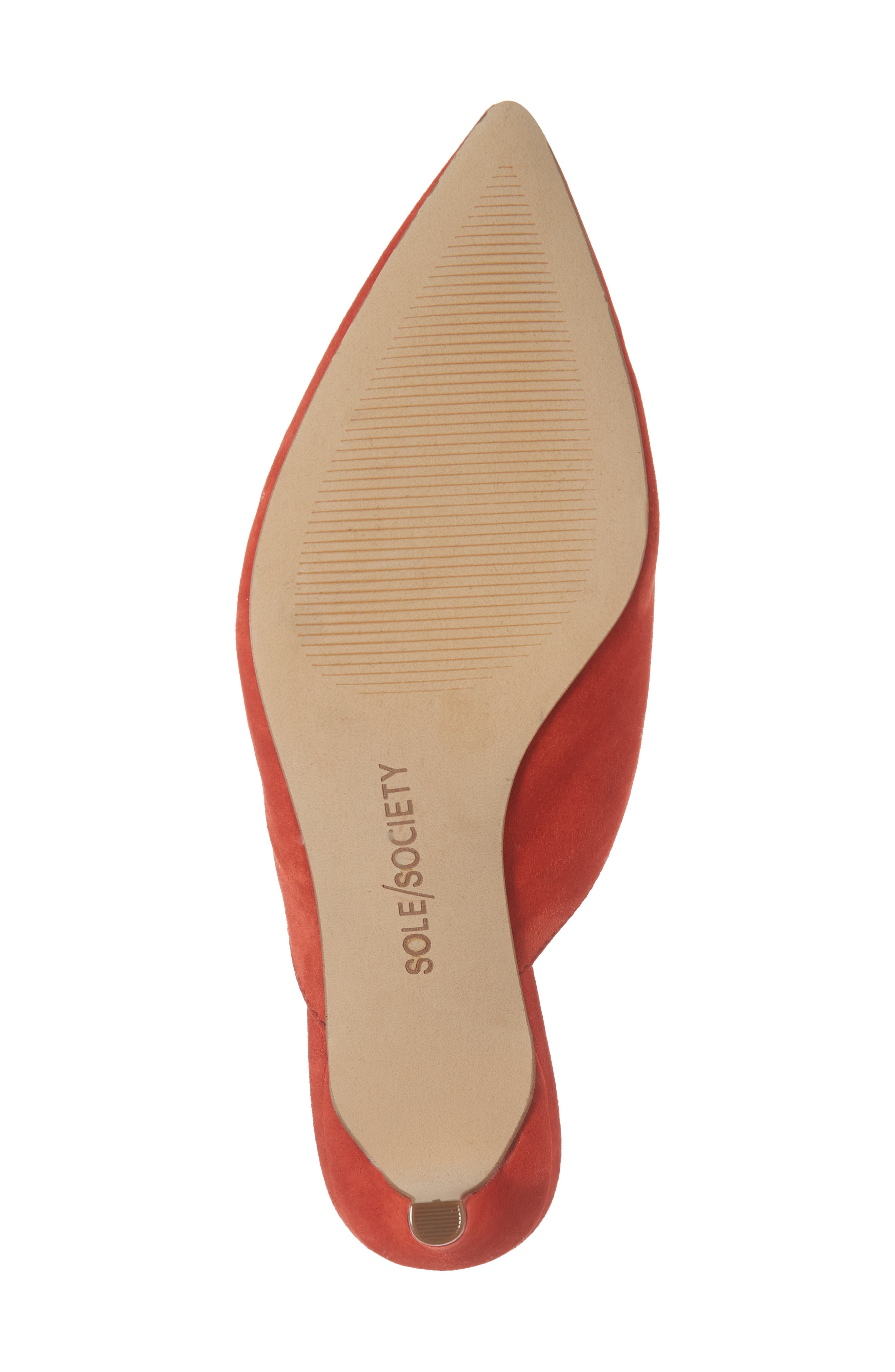 Maleah Pointy Toe Mule,                             Alternate thumbnail 6, color,                             Deep Coral