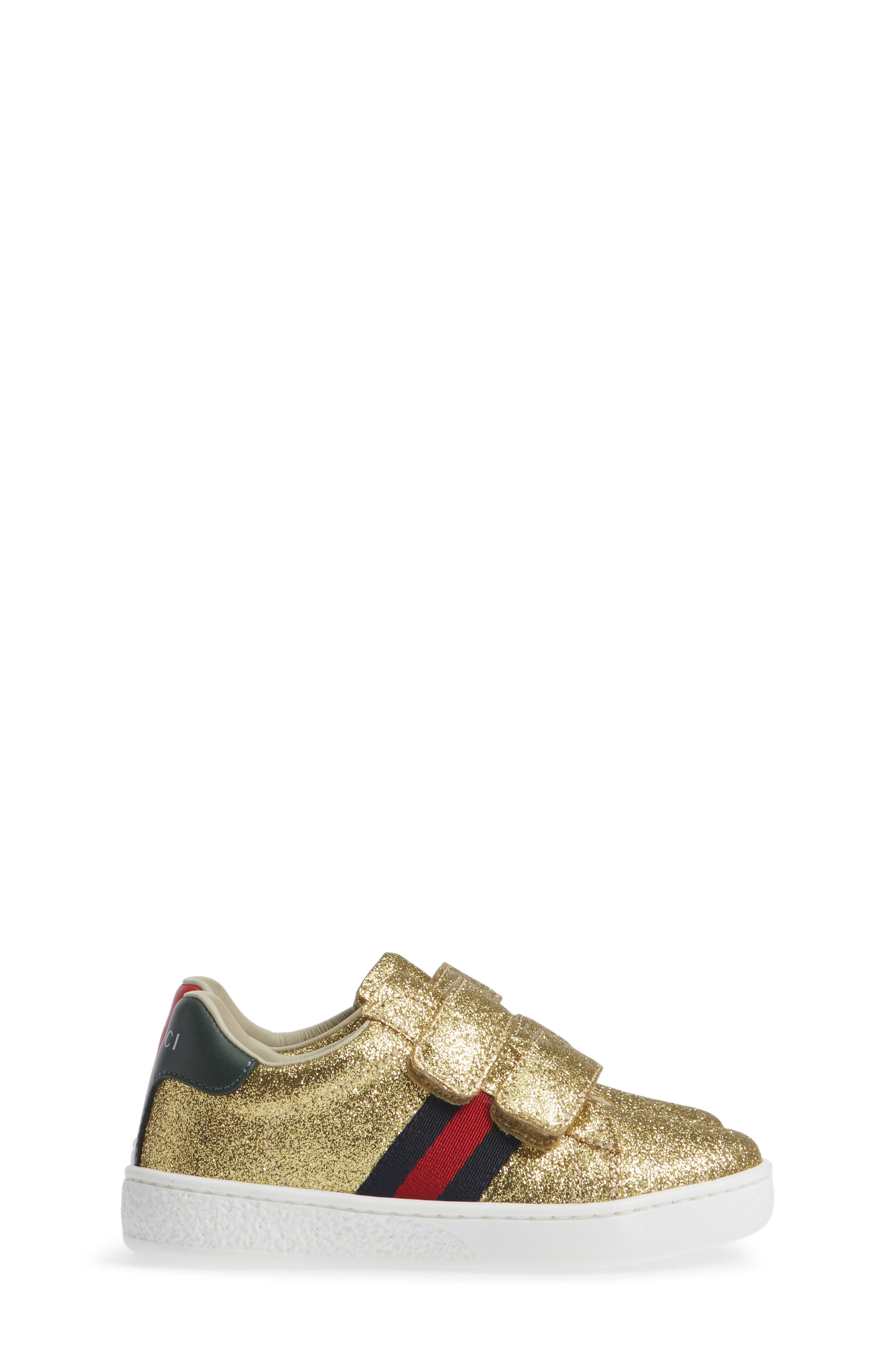New Ace Sneaker,                             Alternate thumbnail 6, color,                             Metallic Gold