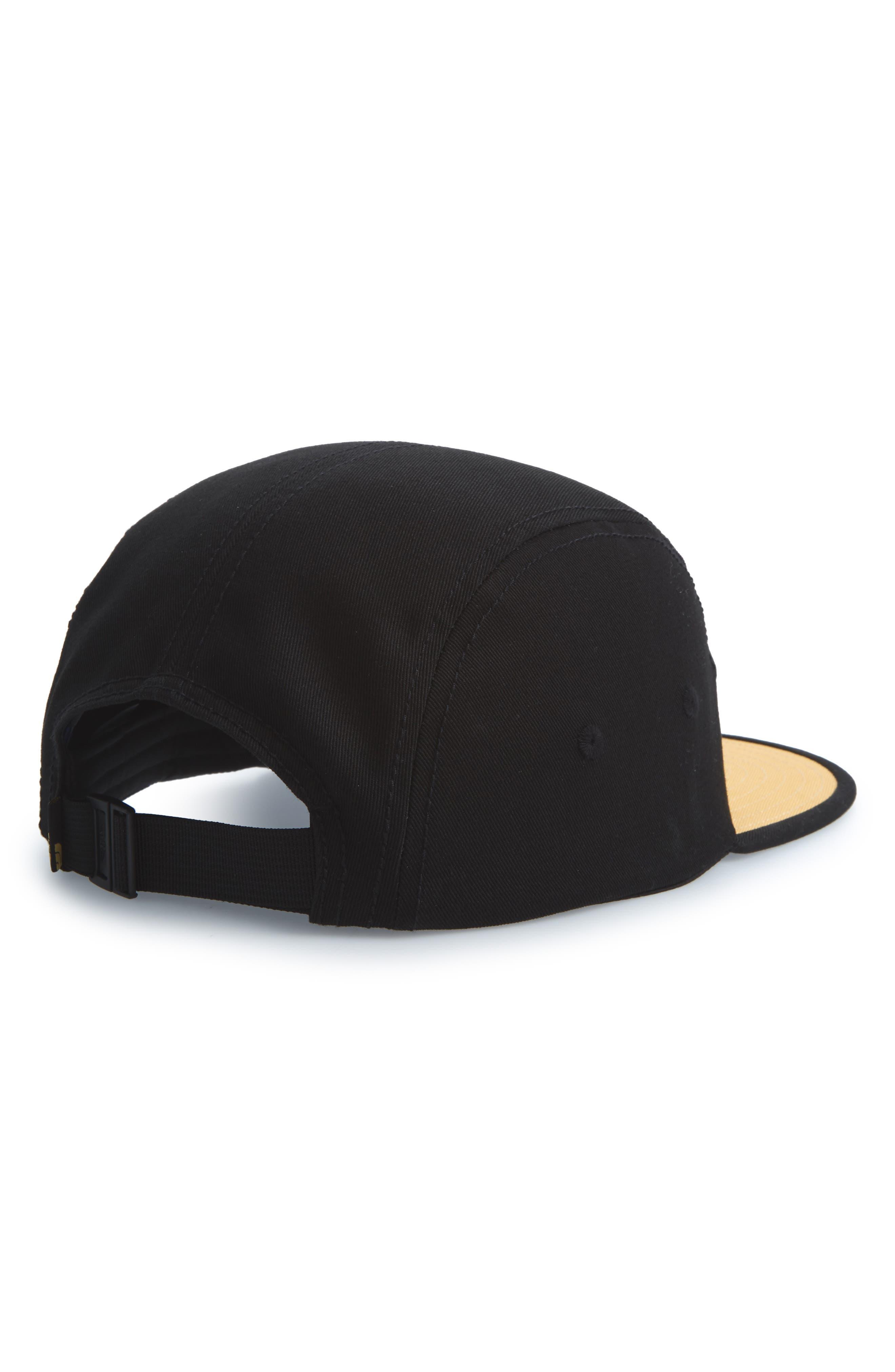 Five-Panel Baseball Cap,                             Alternate thumbnail 2, color,                             Dish Blue/ Black/ Amber