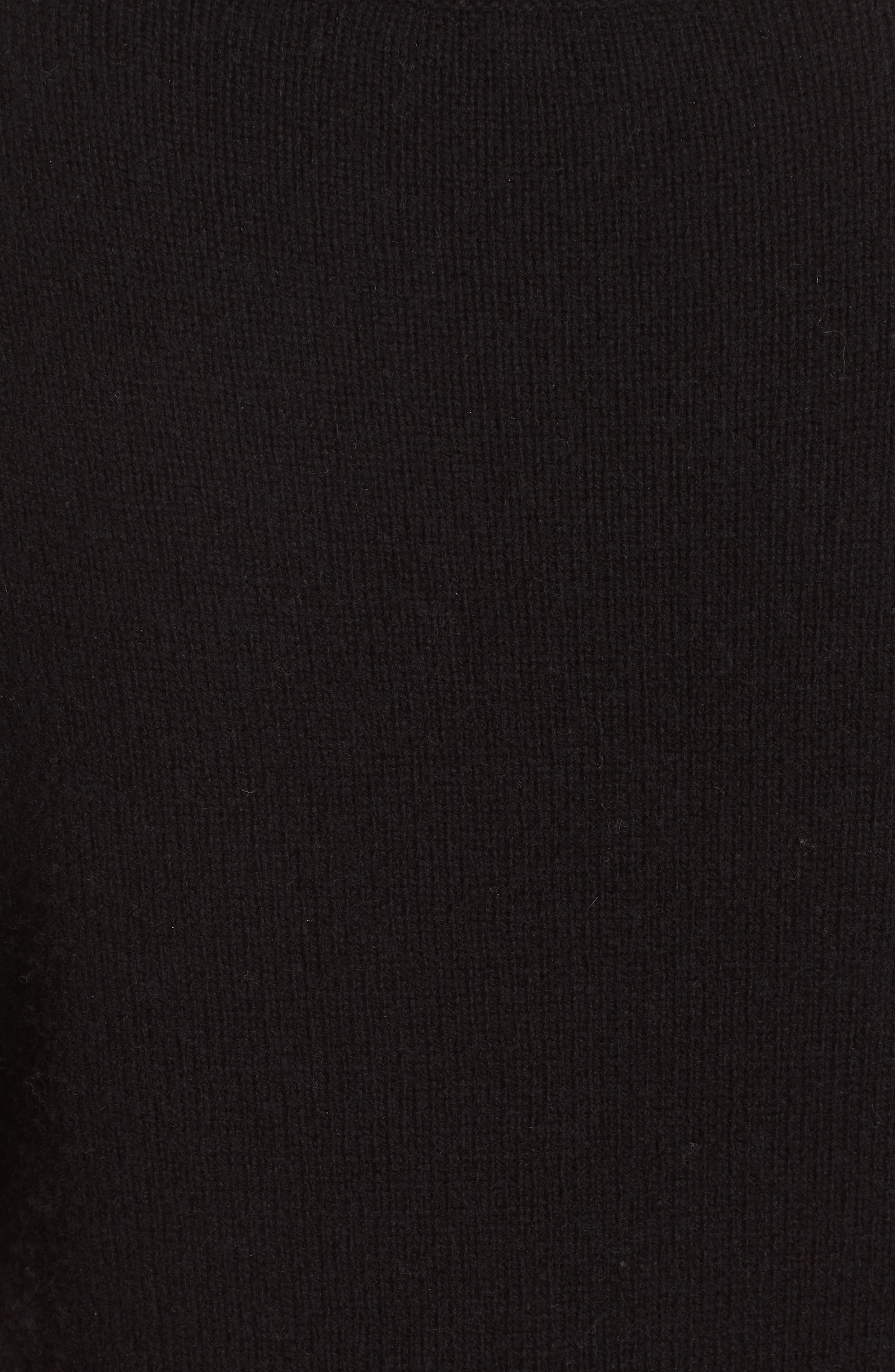 Emilie Embroidered Sweater,                             Alternate thumbnail 3, color,                             Black