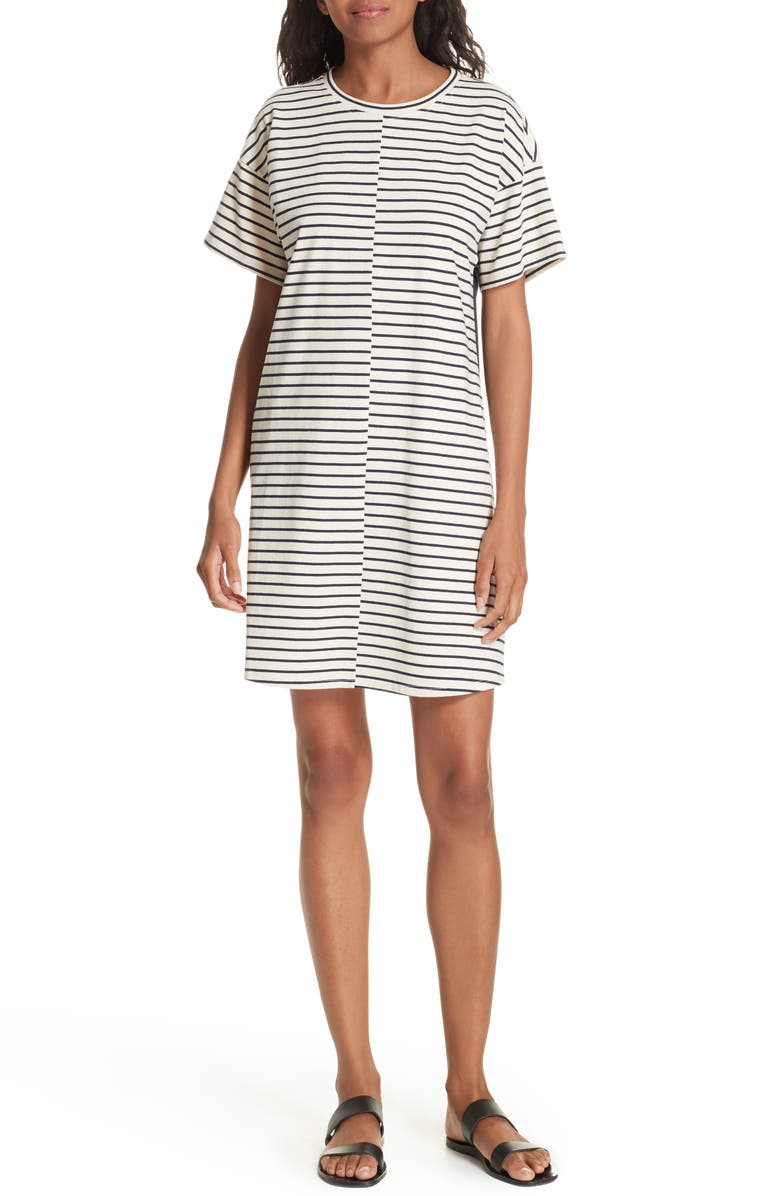 Relaxed Combo Stripe Shift Dress